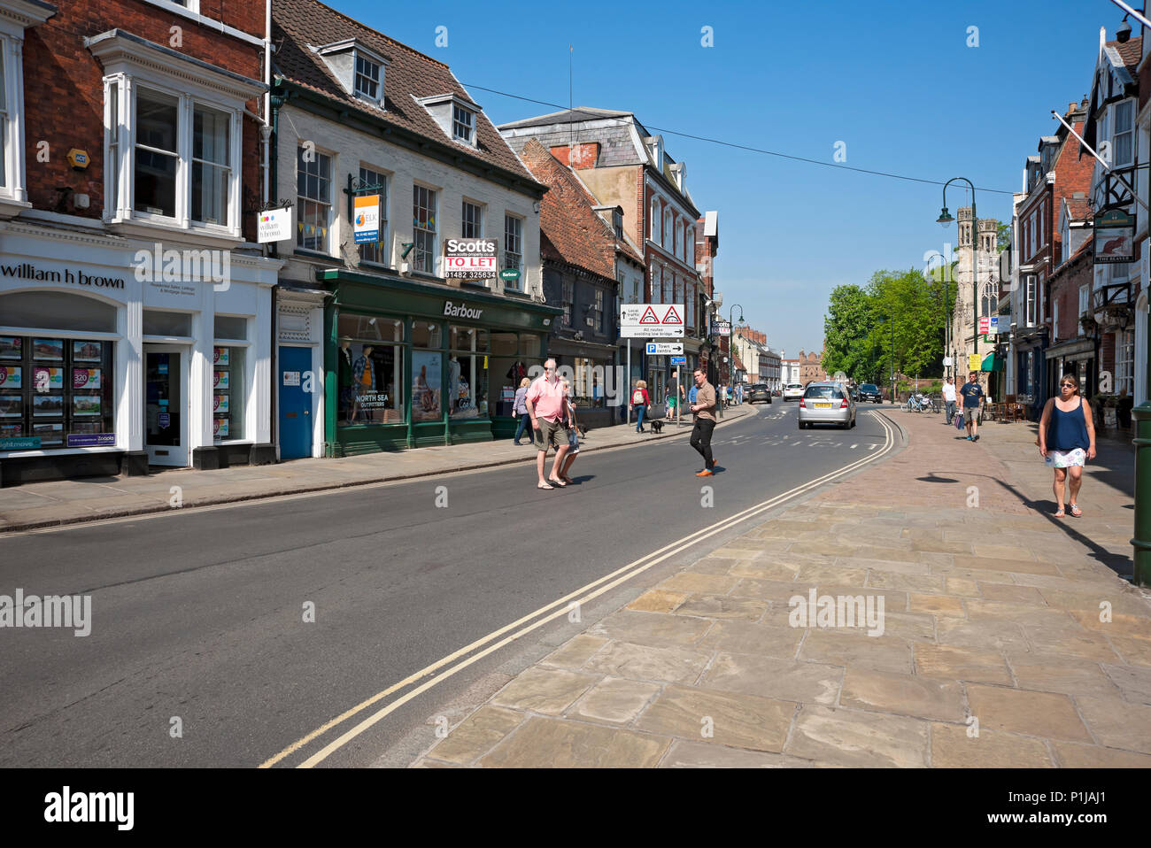 Town centre in spring Beverley East Yorkshire England UK United Kingdom GB Great Britain - Stock Image