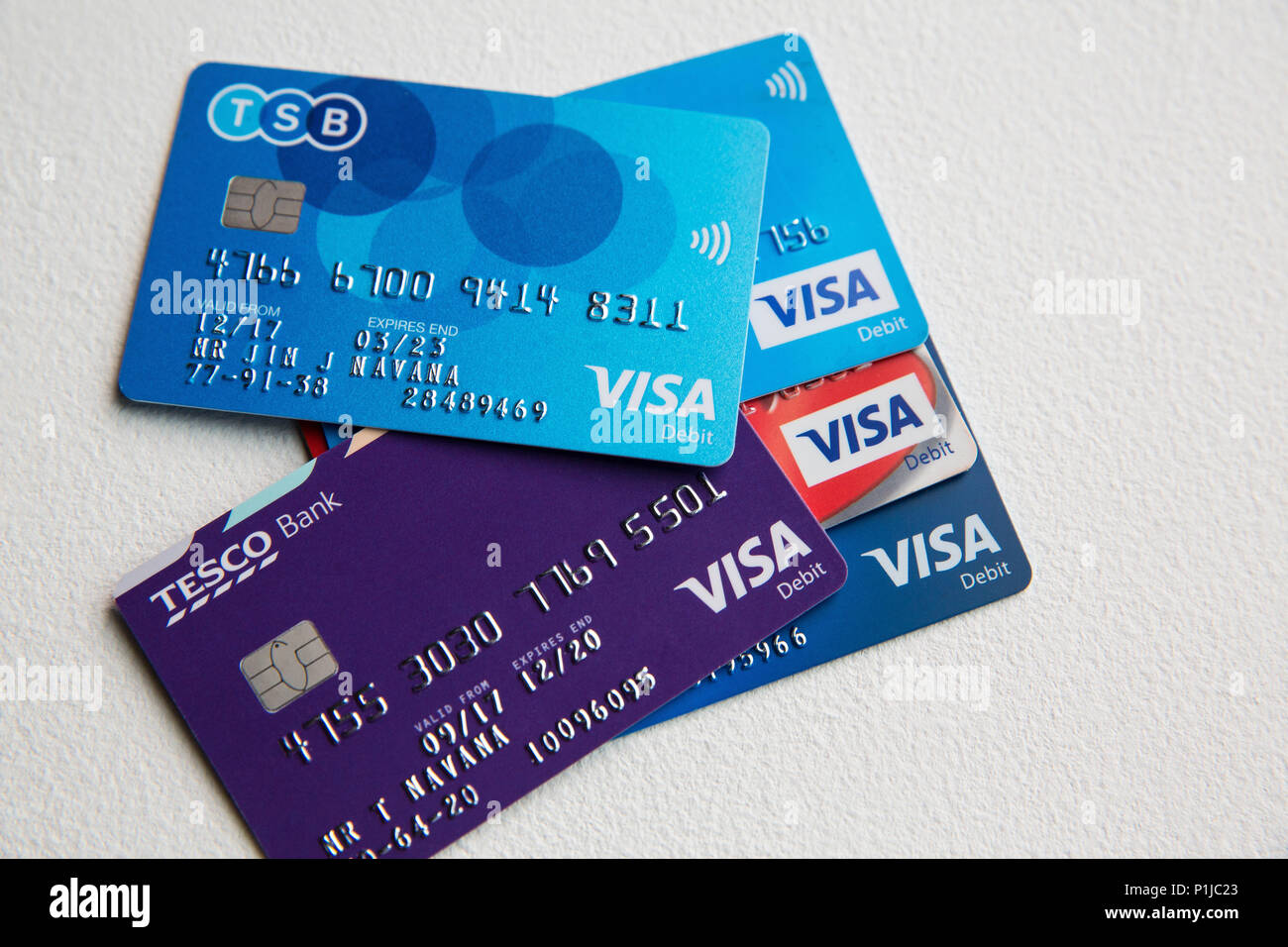 Tsb Debit Card High Resolution Stock Photography And Images Alamy