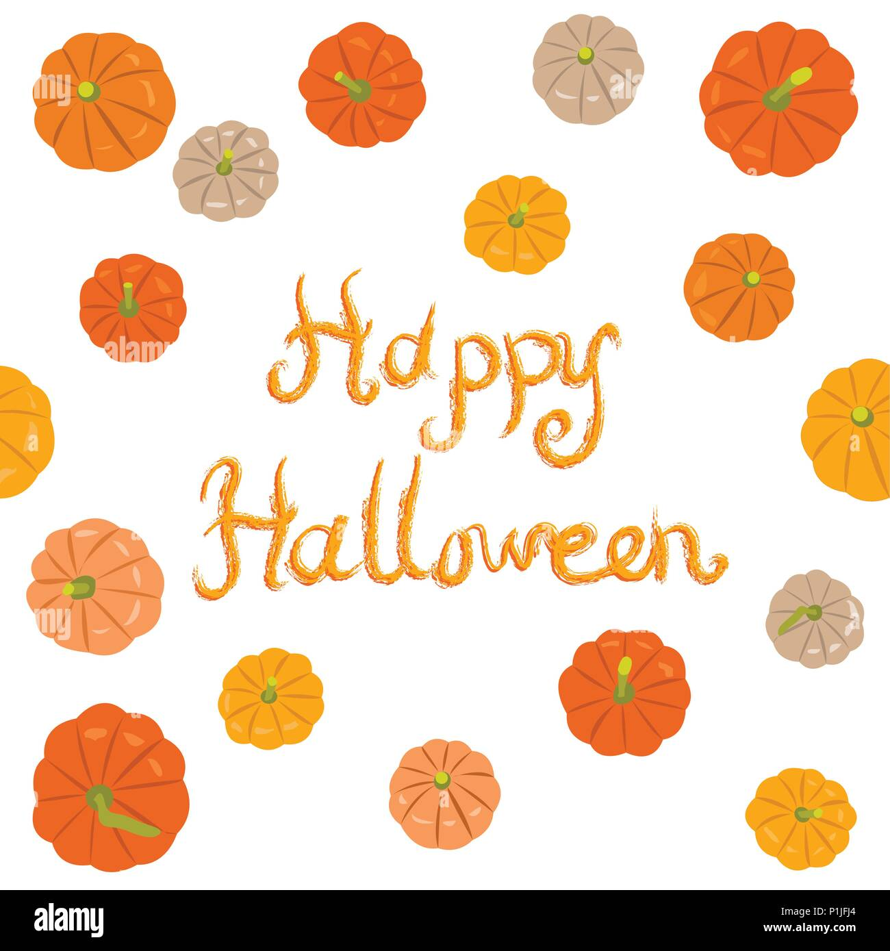 Pattern with pumpkins, vector illustration - Stock Vector