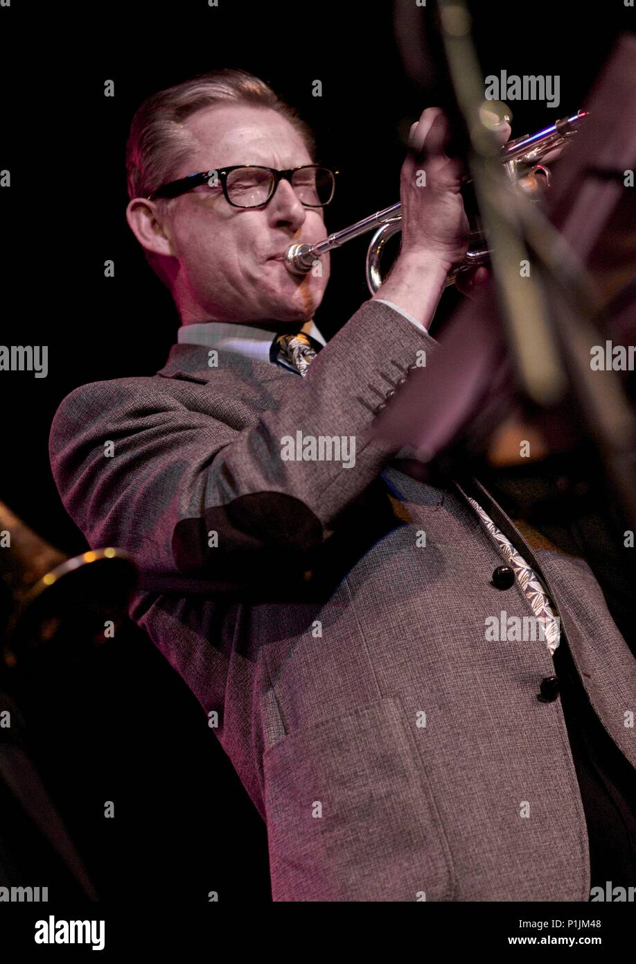 Alyn Shipton and the Buck Clayton Legacy Band, Bristol Jazz Festival, 2013. - Stock Image
