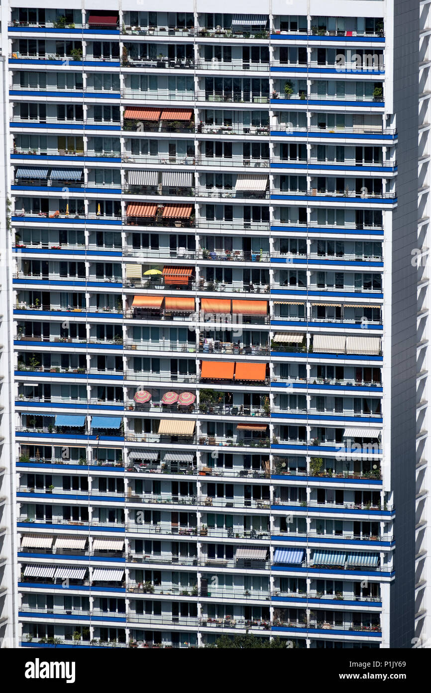 High Rise apartment building in Berlin , Mitte, Berlin, Germany - Stock Image