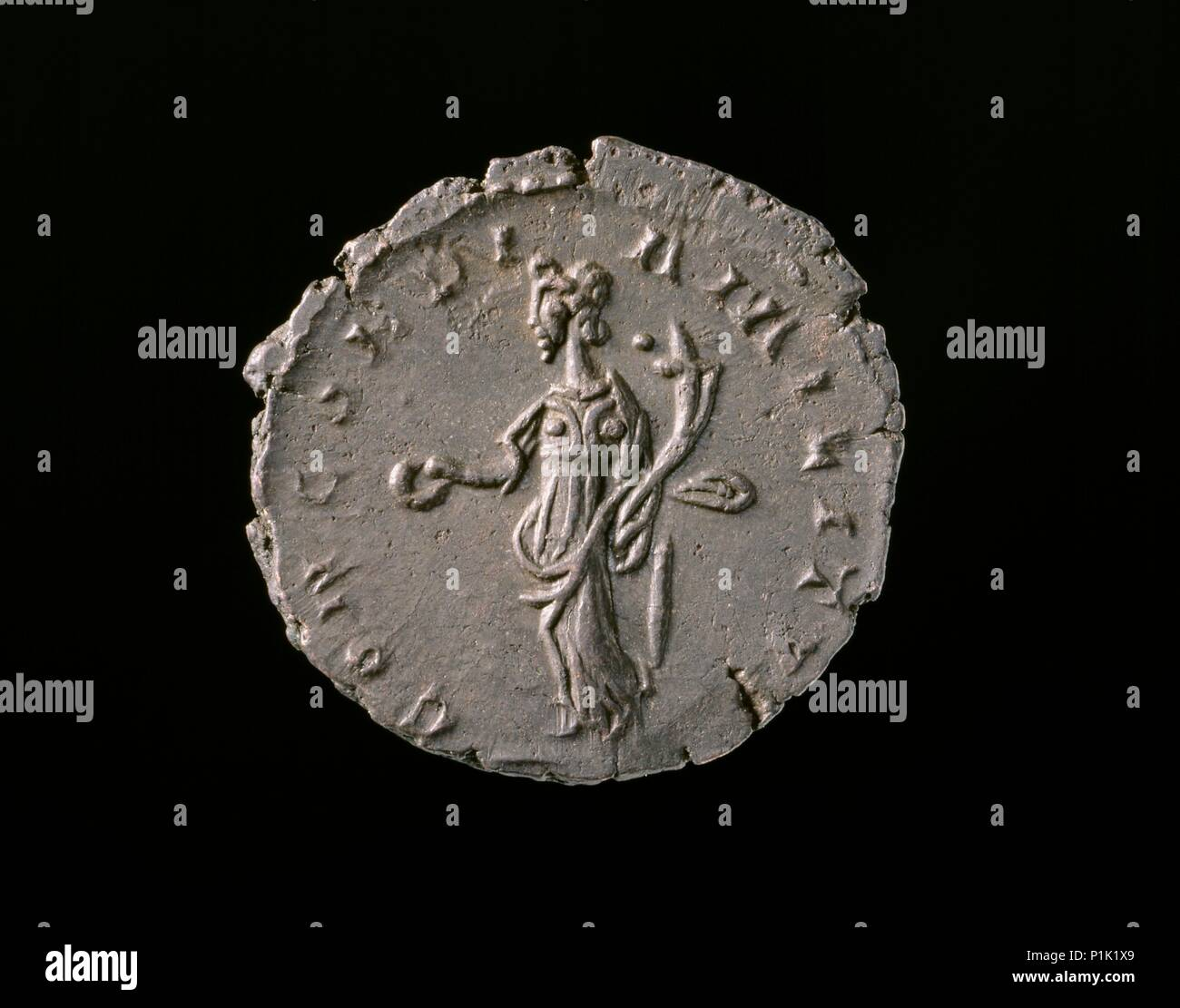 Roman Imperial Coin, 271.  Dimension: diameter: 20 mmweight: 0 gdie-axis: 12 o'clock - Stock Image