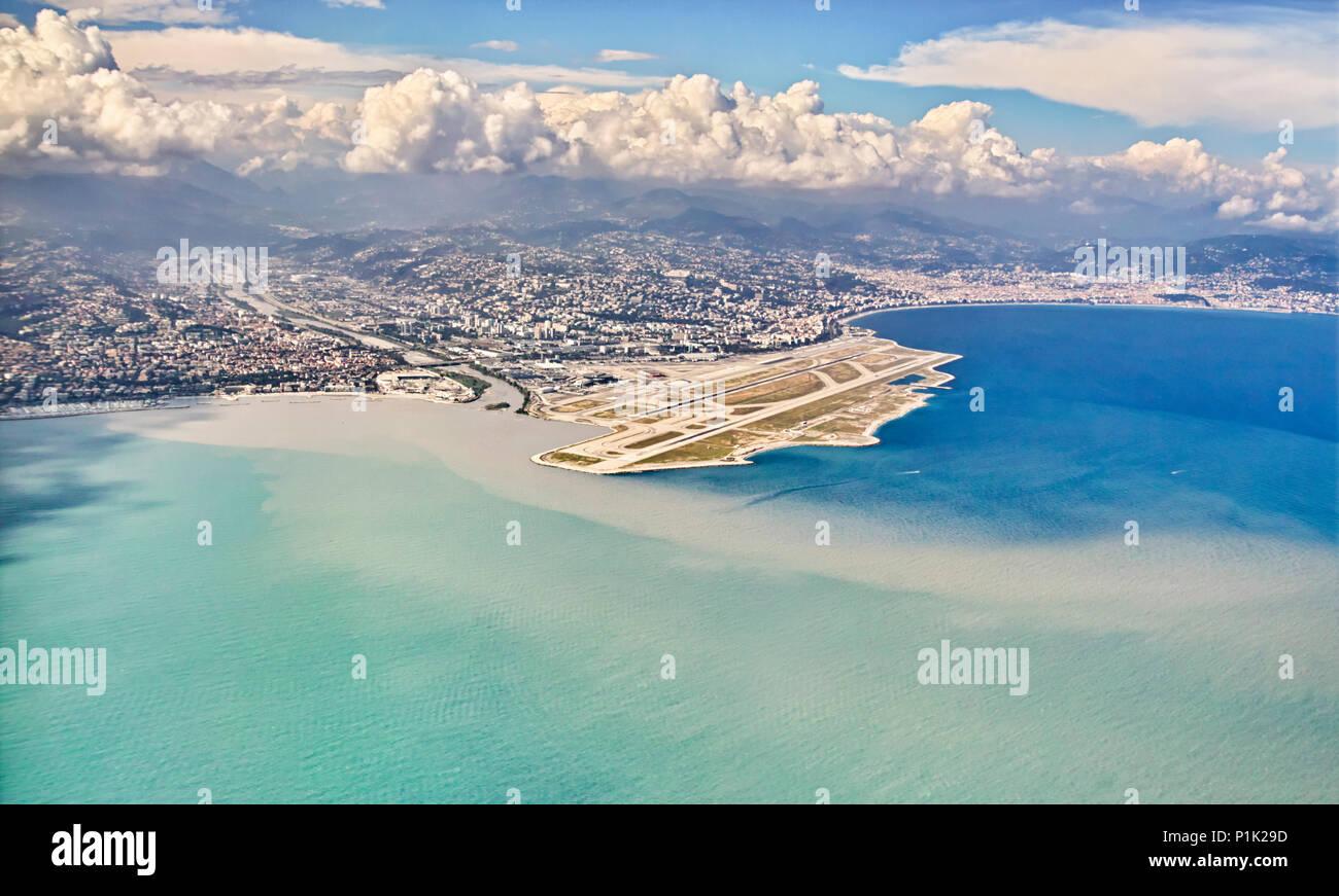 Nizza Flughafen Frankreich - Stock Image