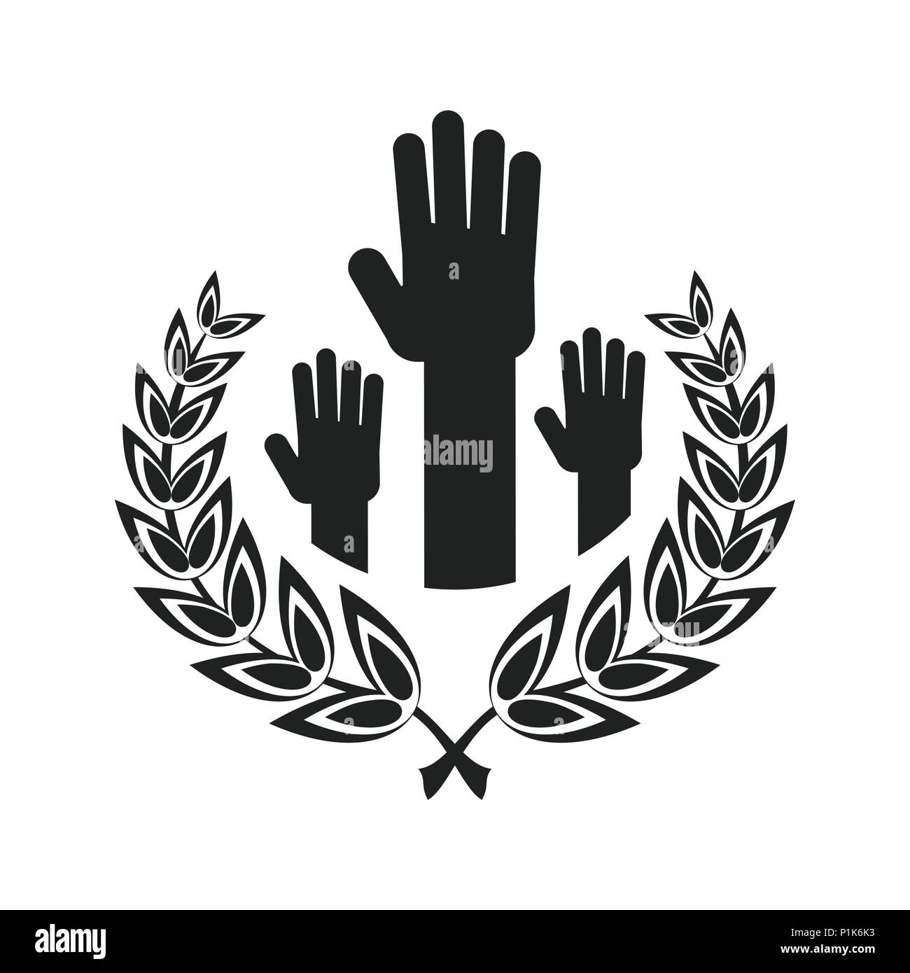 Unity Handpalm Heart Logo Stock Vector Image Art Alamy