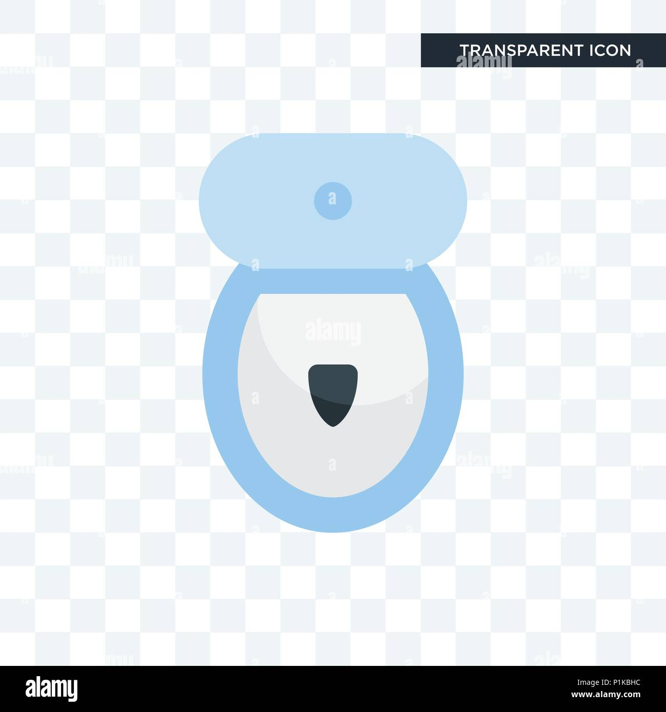toilet bowl vector icon isolated on transparent background, toilet ...
