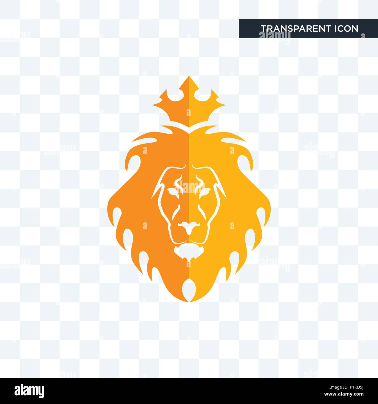 Judah and the lion vector icon isolated on transparent background judah and the lion logo concept