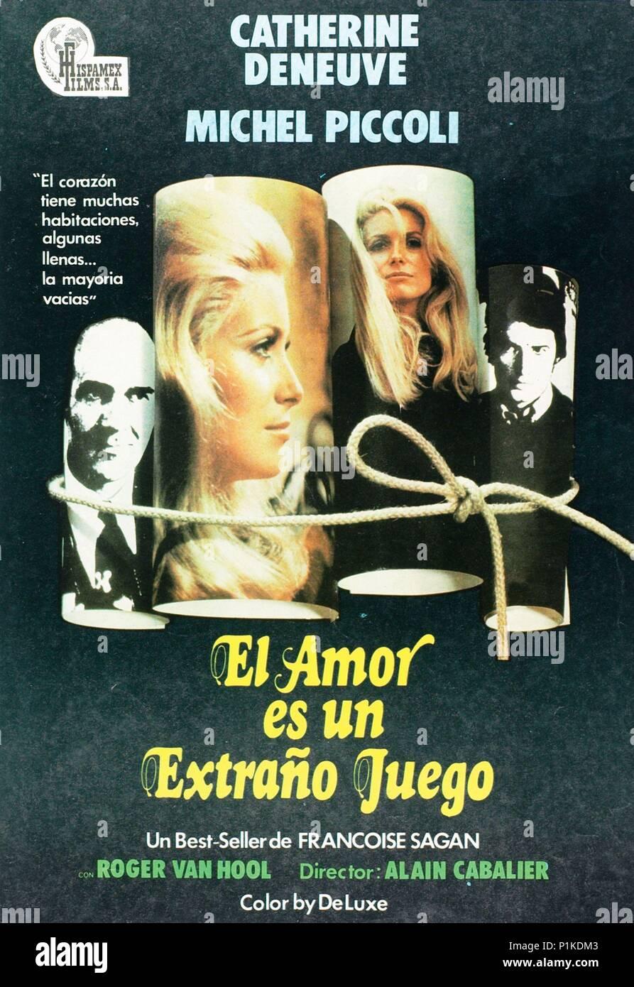 Original Film Title: LA CHAMADE.  English Title: LA CHAMADE.  Film Director: ALAIN CAVALIER.  Year: 1968. Credit: LES FILMS ARIANE/ARTISTES ASSOCIES / Album - Stock Image