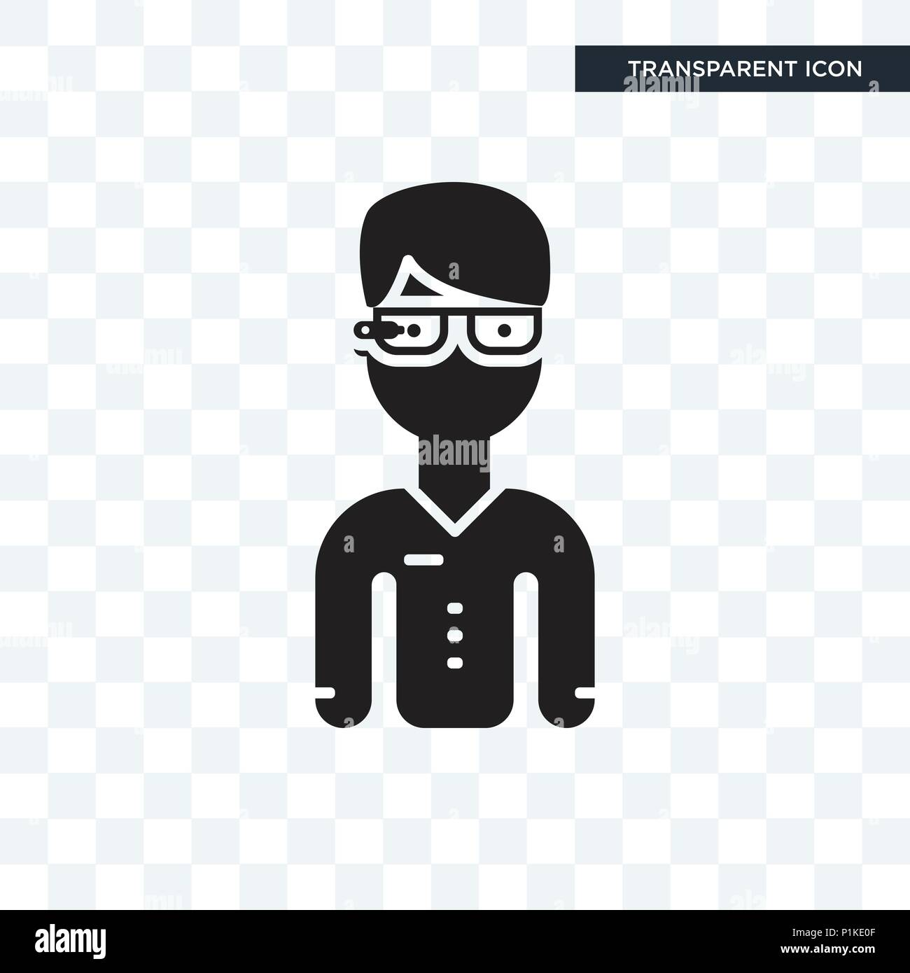 Google Glasses Vector Icon Isolated On Transparent Background