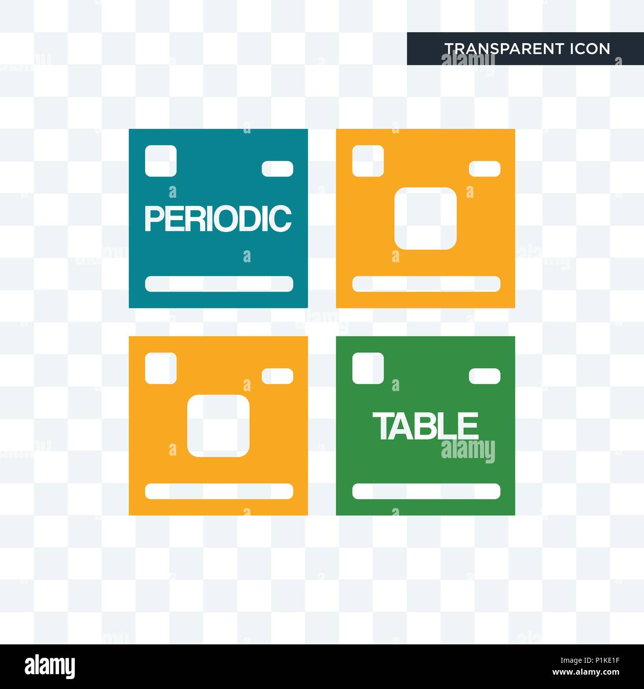 Periodic Table Vector Icon Isolated On Transparent Background, Periodic  Table Logo Concept