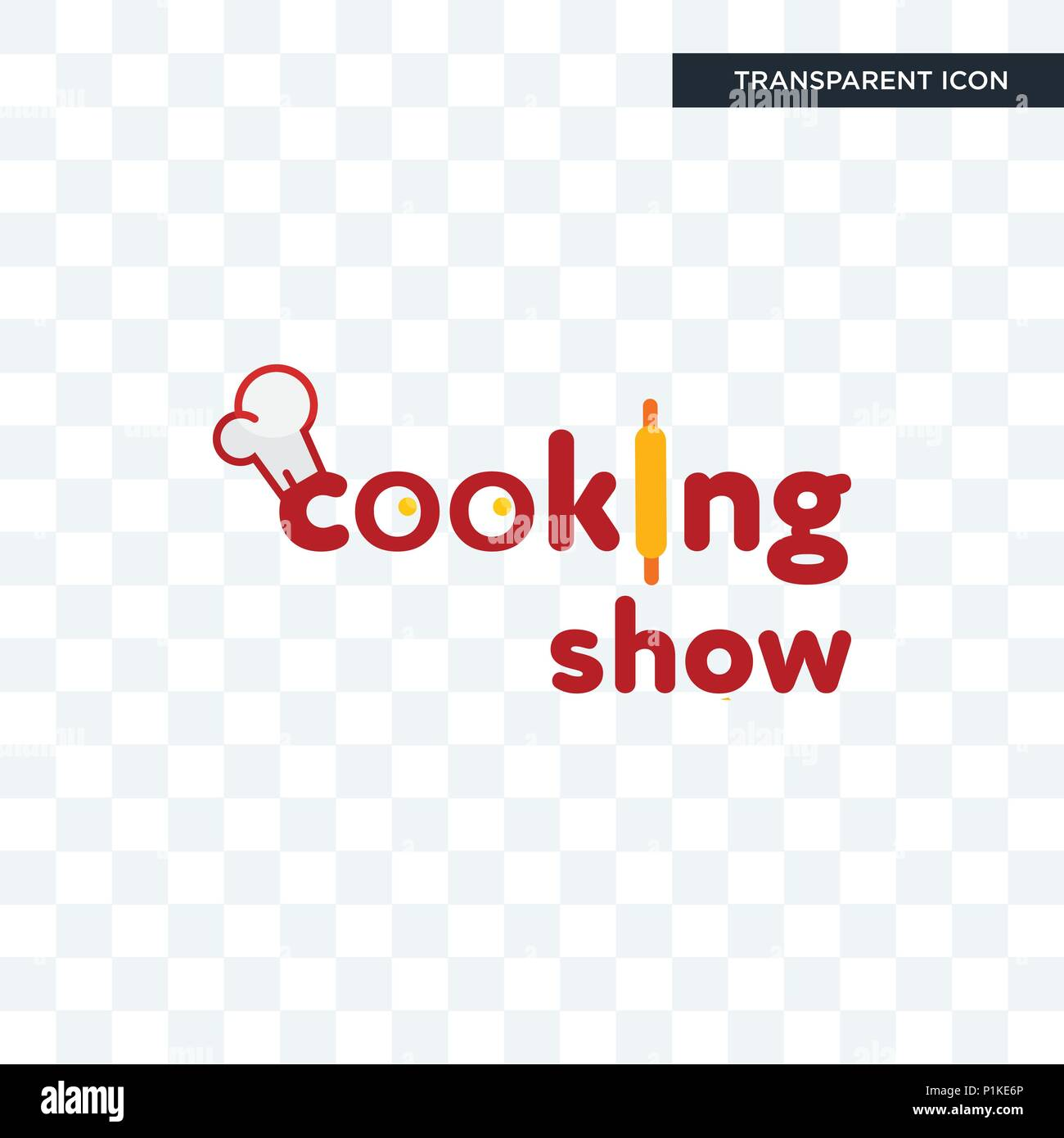 cooking show vector icon isolated on transparent background, cooking show logo concept - Stock Image