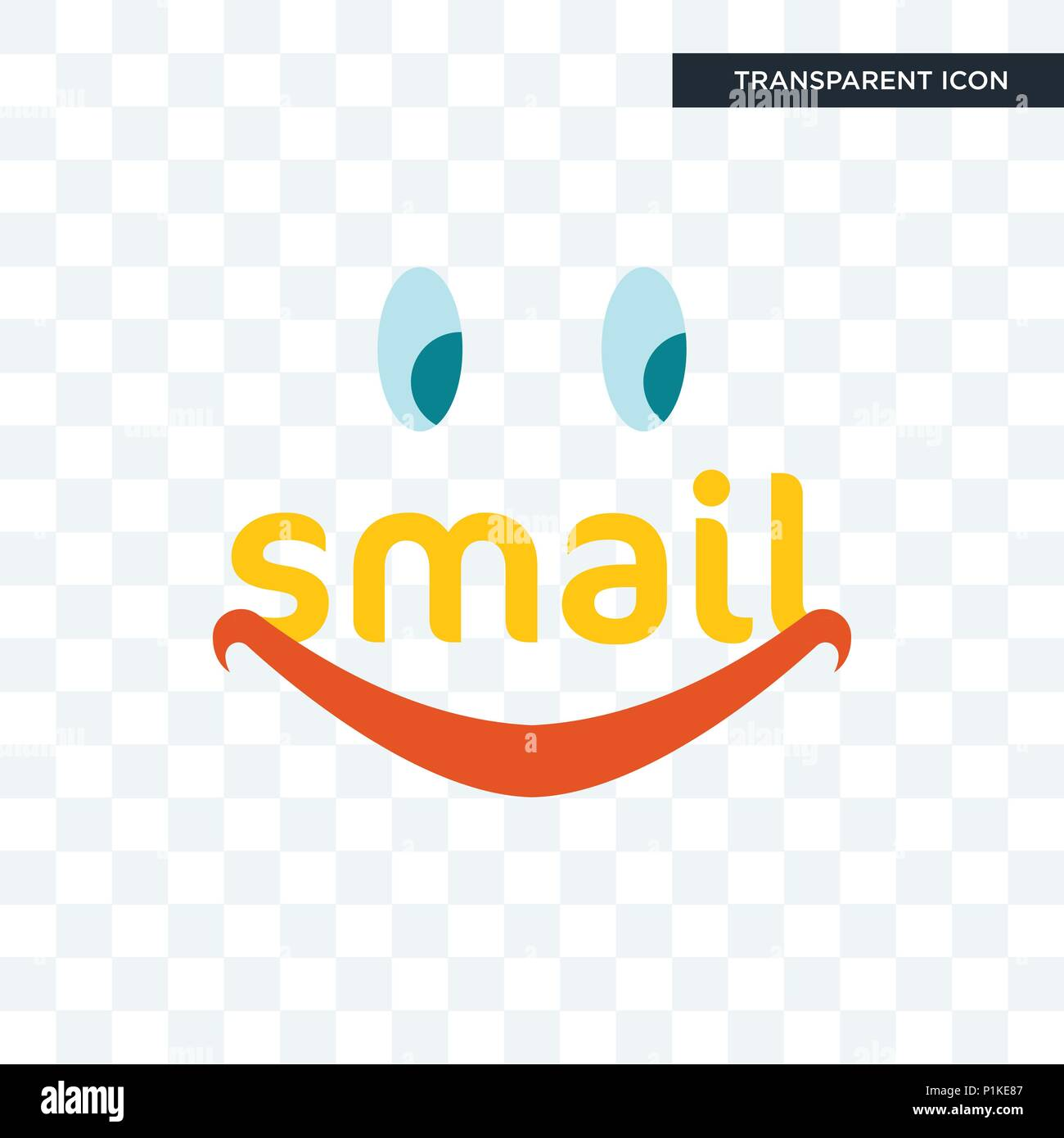 smail vector icon isolated on transparent background, smail logo concept