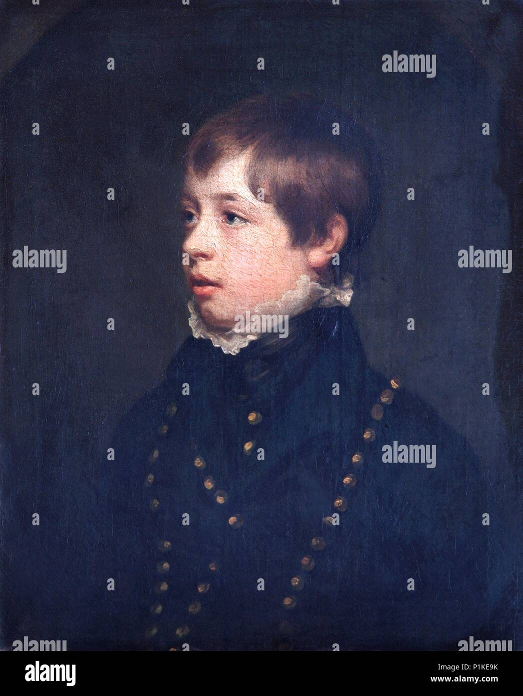 Portrait of English child actor William Henry West Betty, c1805. Betty (1791-1874) was known as the Young Roscius. Painting in Apsley House, London. - Stock Image