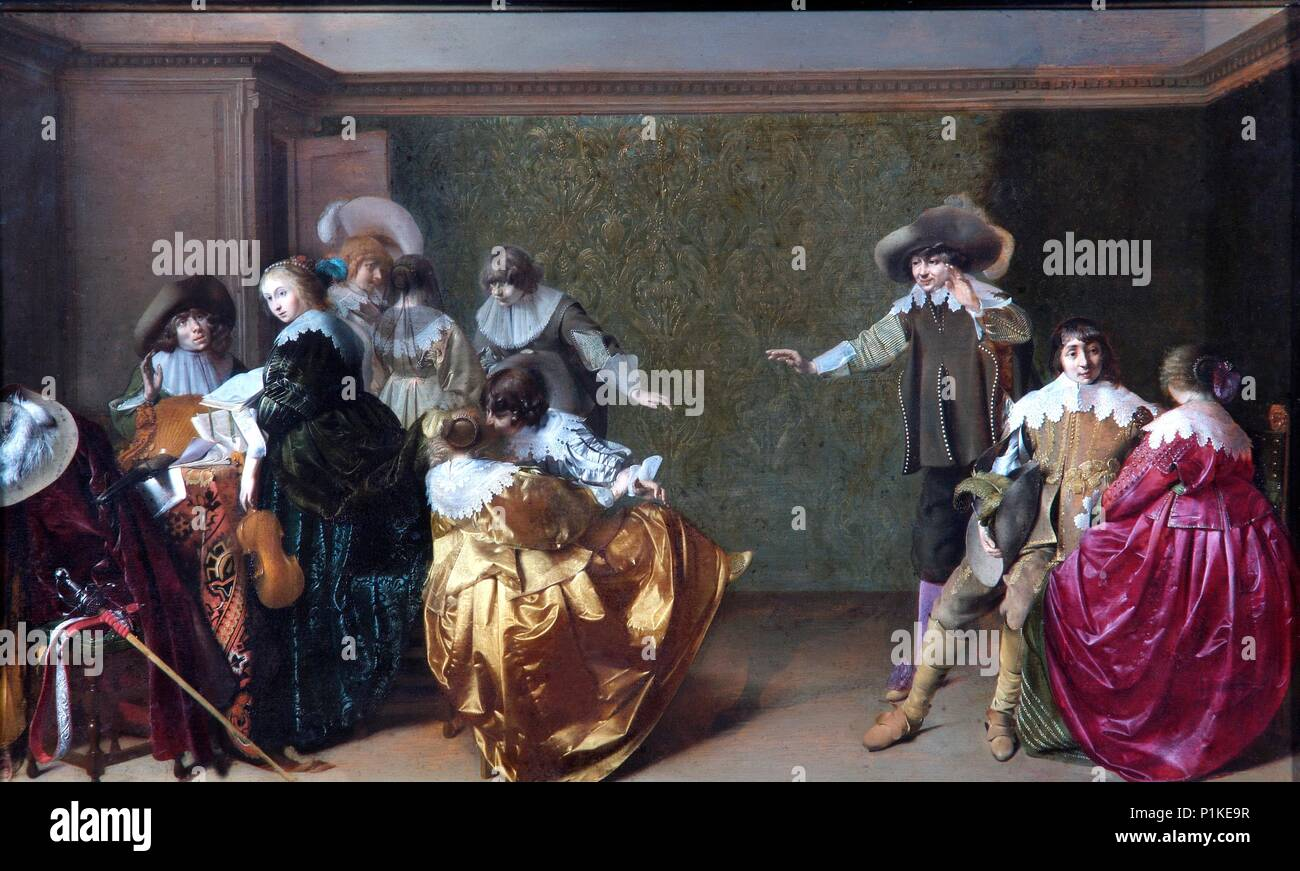'A Musical Party', 17th century. Painting in Apsley House, London. - Stock Image
