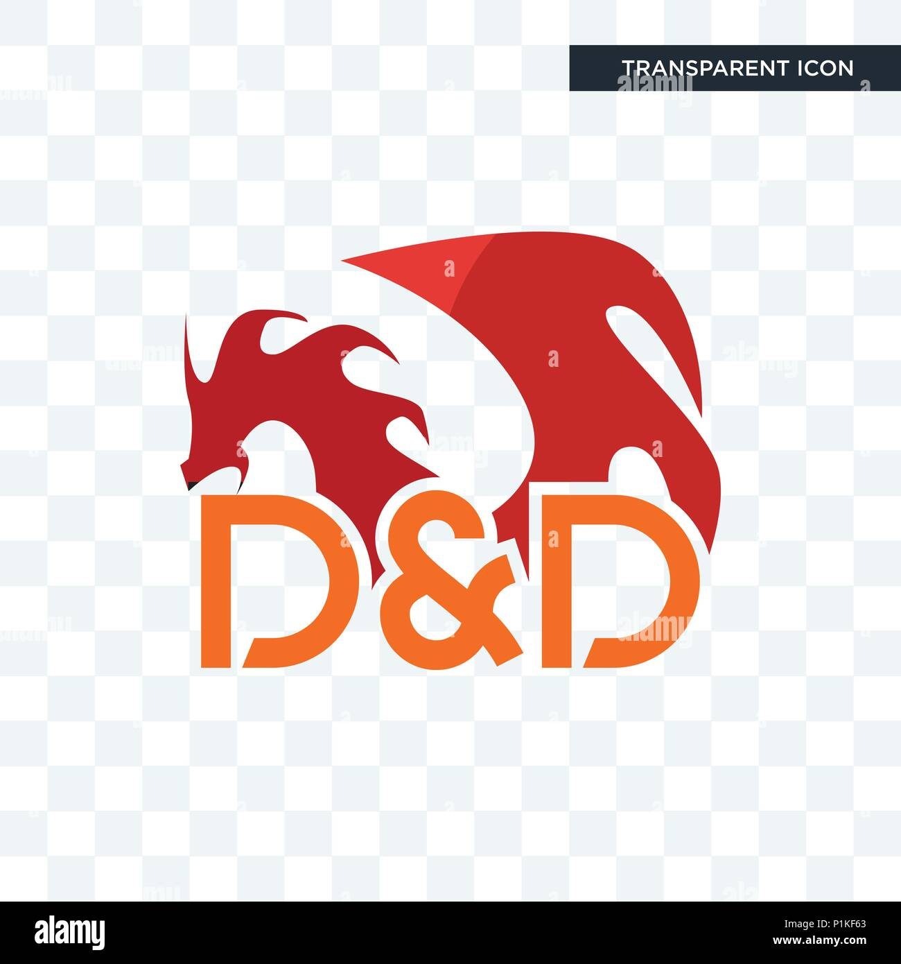 Dungeons And Dragons Vector Icon Isolated On Transparent Background