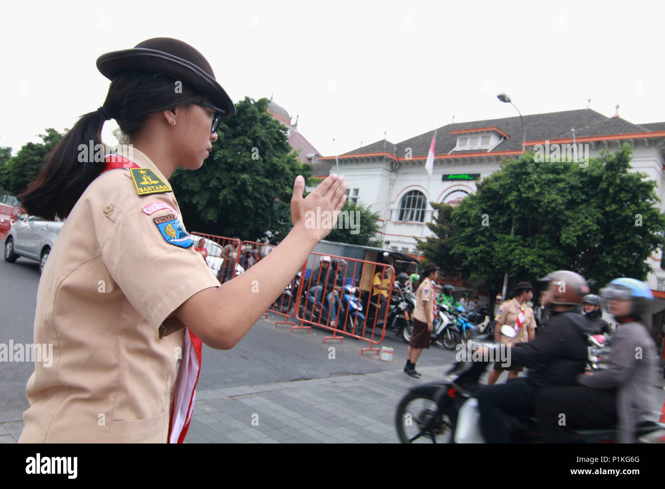 Yogyakarta, Indonesia  12th June, 2018  Students of scout