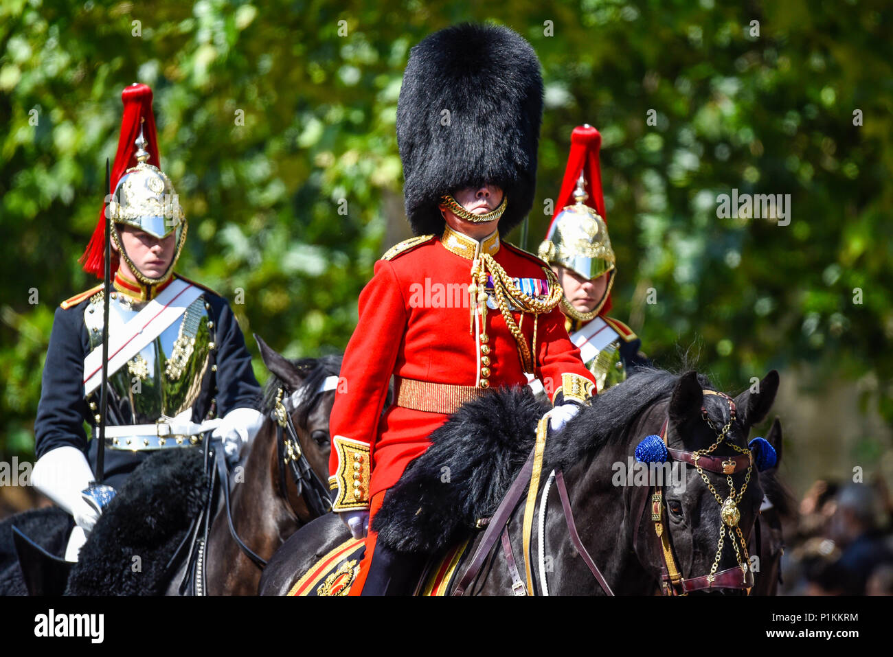 Trooping the Colour 2018. Brigade Major Lt Col Guy Stone. Lieutenant Colonel Guy Stone, Welsh Guards (Brigade Major Household Division) - Stock Image