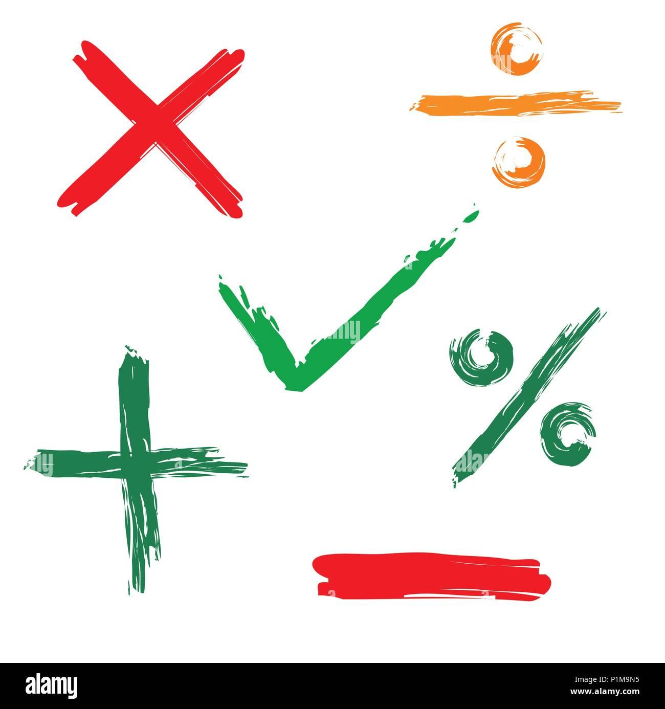 Tick, cross, positive, negative web icon - Stock Image