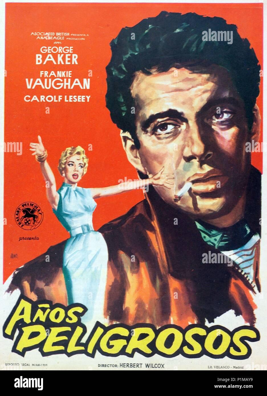 Original Film Title: THESE DANGEROUS YEARS.  English Title: DANGEROUS YOUTH.  Film Director: HERBERT WILCOX.  Year: 1957. Credit: AB-PATHE / Album - Stock Image