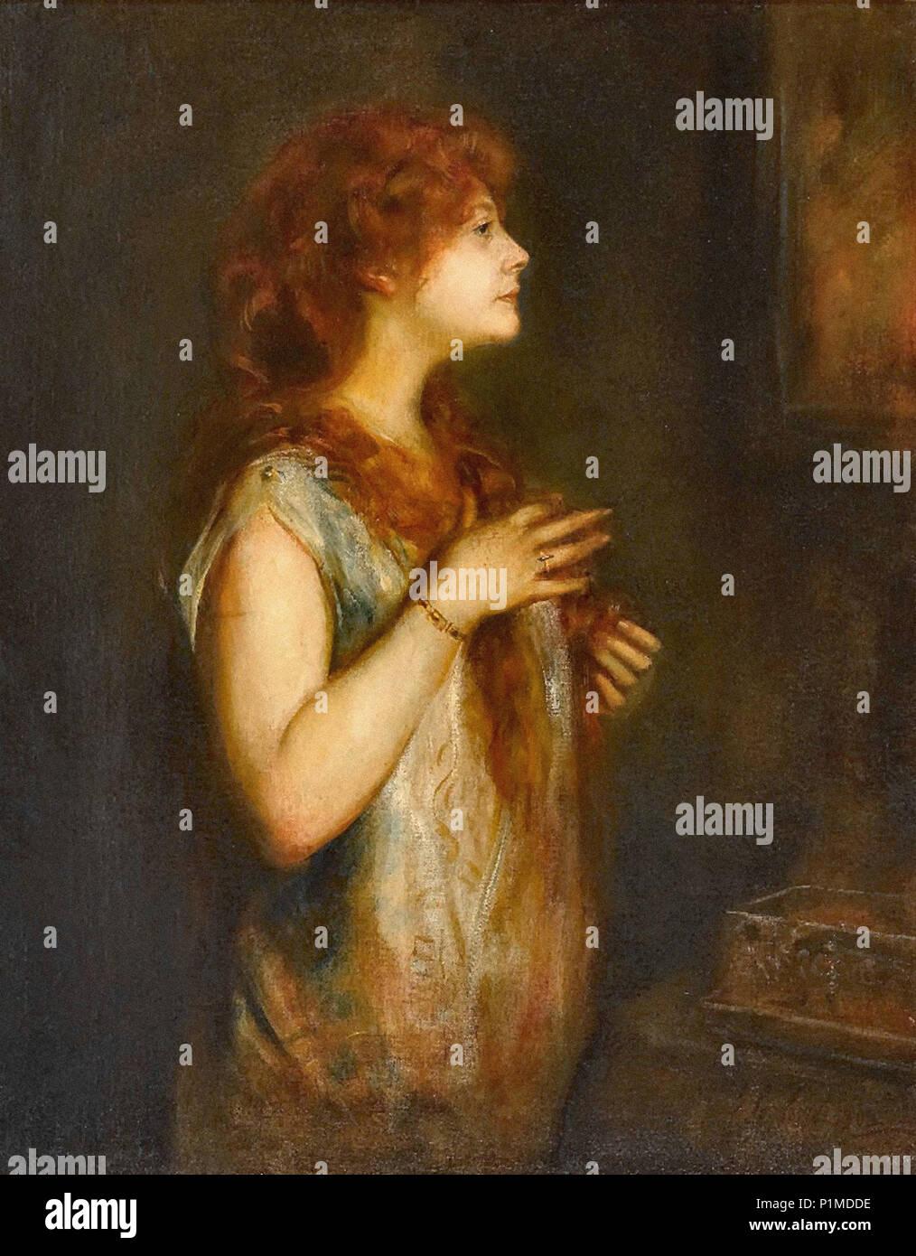 Lenbach  Franz Von - Damenbildnis 2 (Möglich Frau Von Goldmann) - Stock Image