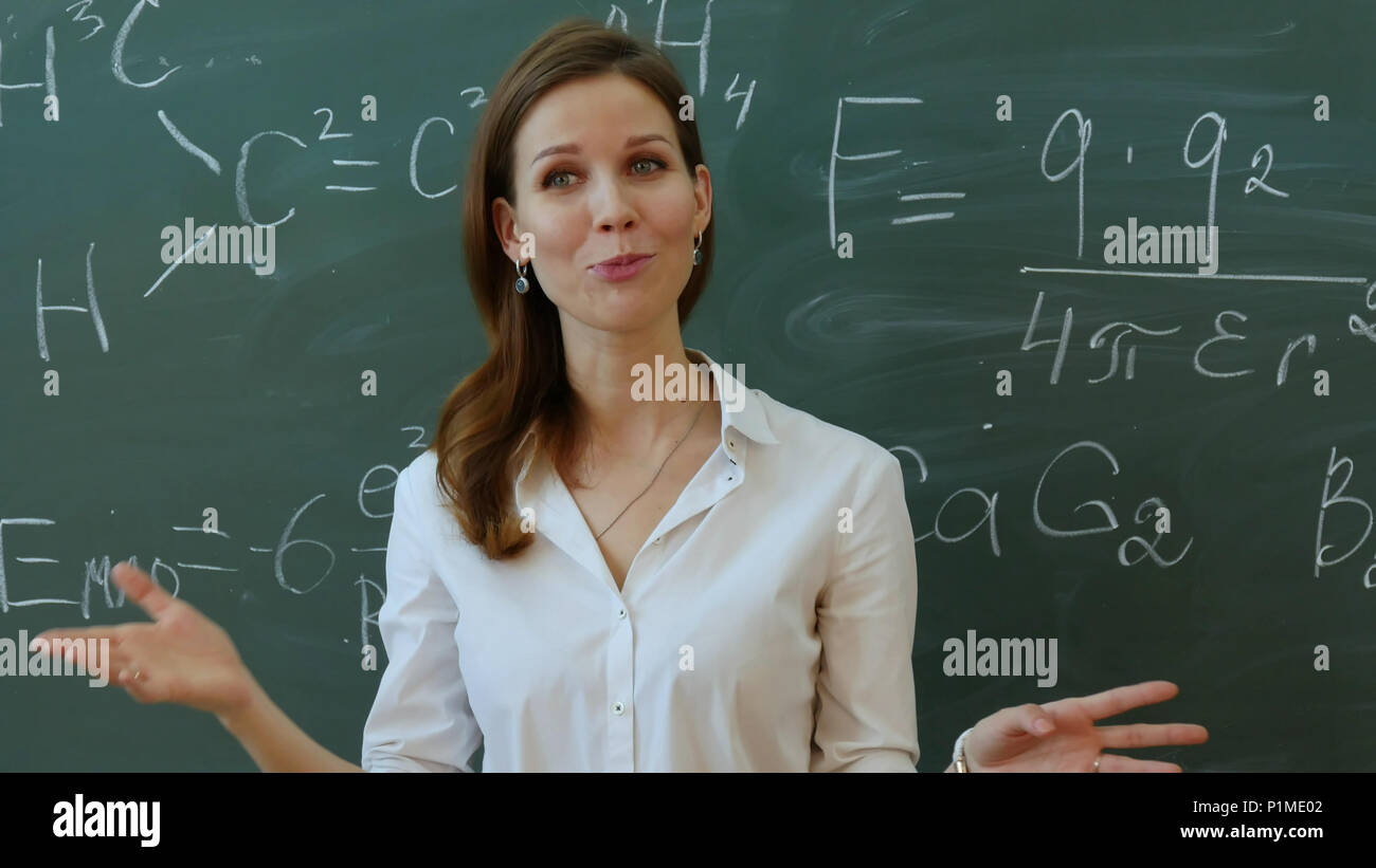 Young Attractive Female Teacher Maths Stock Photos & Young ...