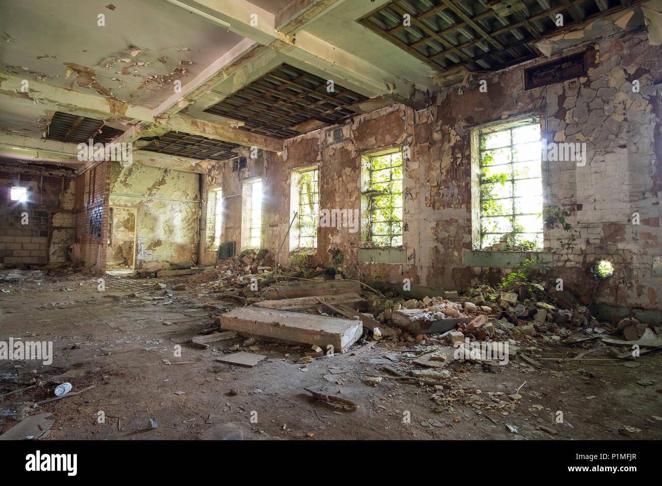 Abandoned buildings at Stanton Ironworks, Derbyshire, UK - Stock Image