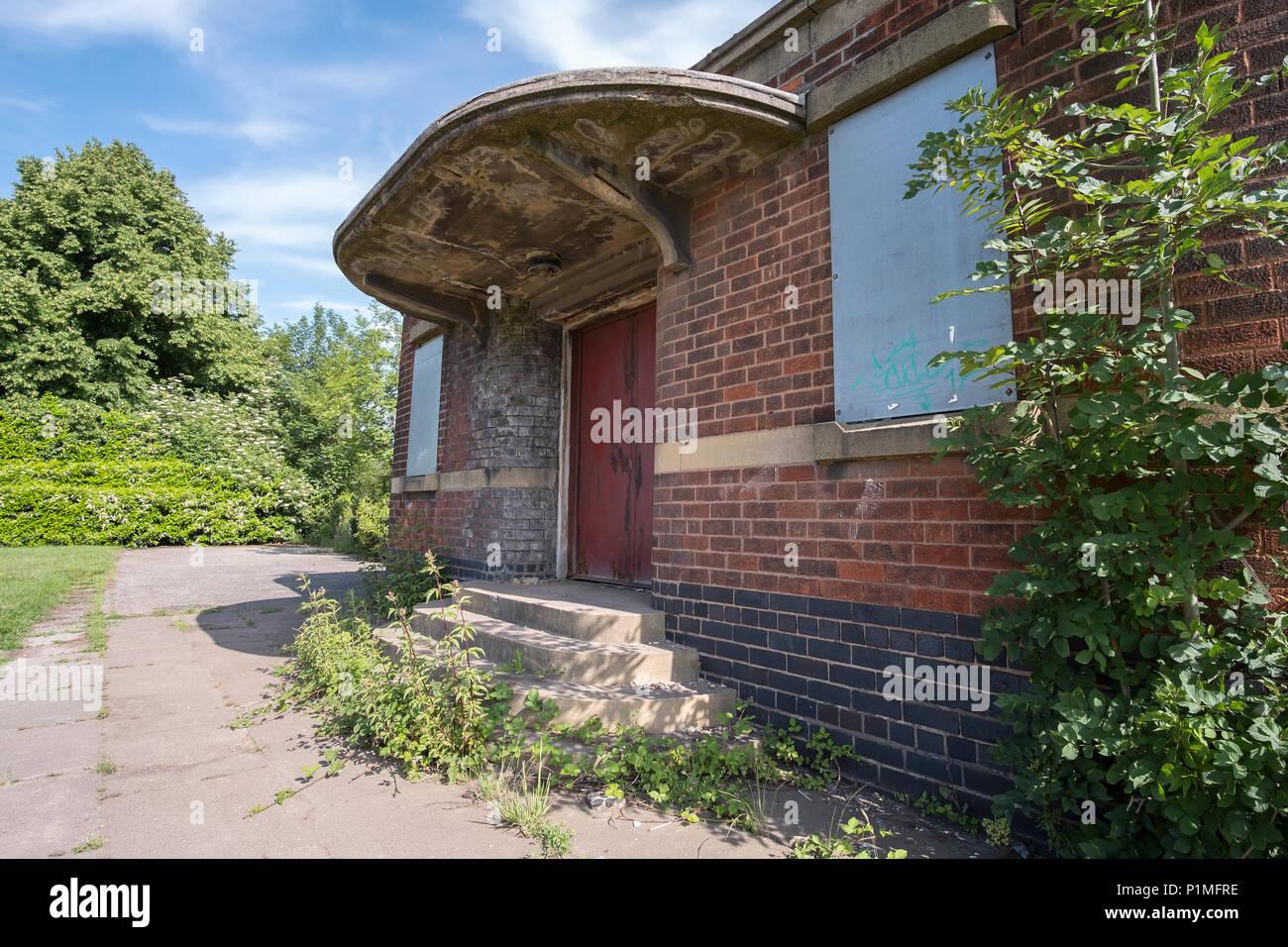 Abandoned buildings at Stanton Ironworks, Derbyshire, UK Stock Photo