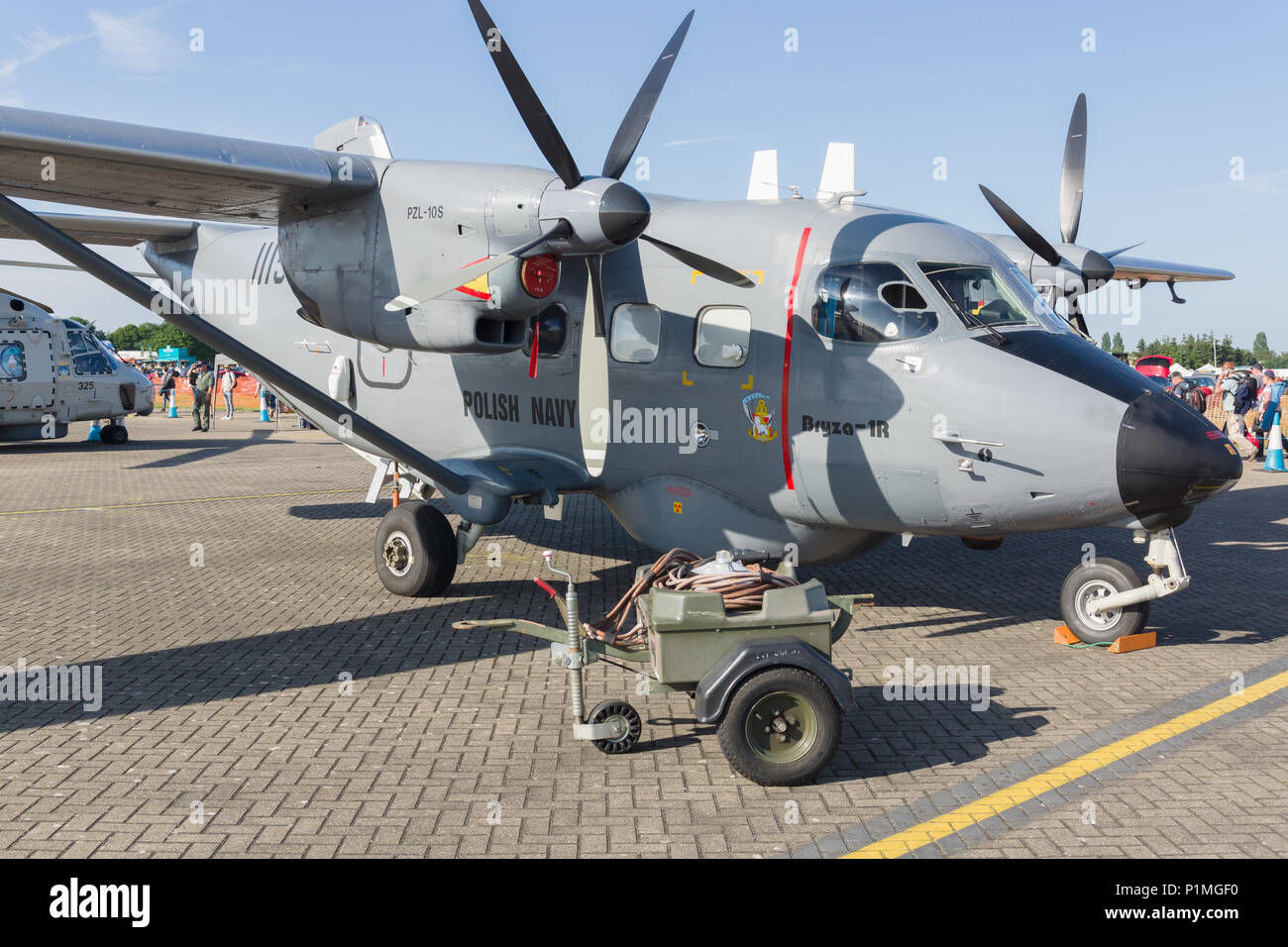 PZL10S Bryza Polish Navy reconnaissance aircraft based on the M28 Skytruck and produced by PZL Mielec - Stock Image