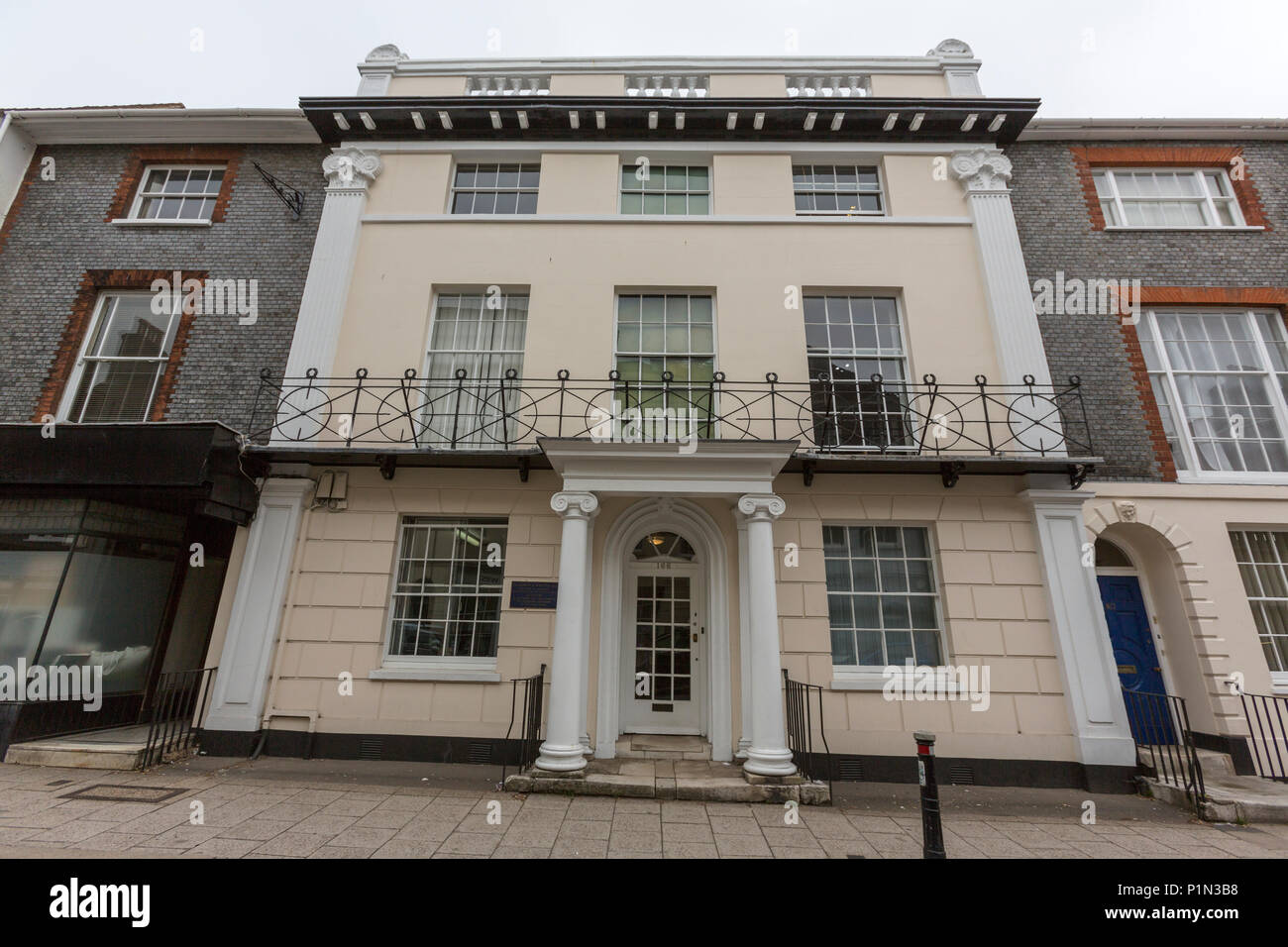 Gideon Mantell house 166 High Street, Lewes, East Sussex, England, UK - Stock Image