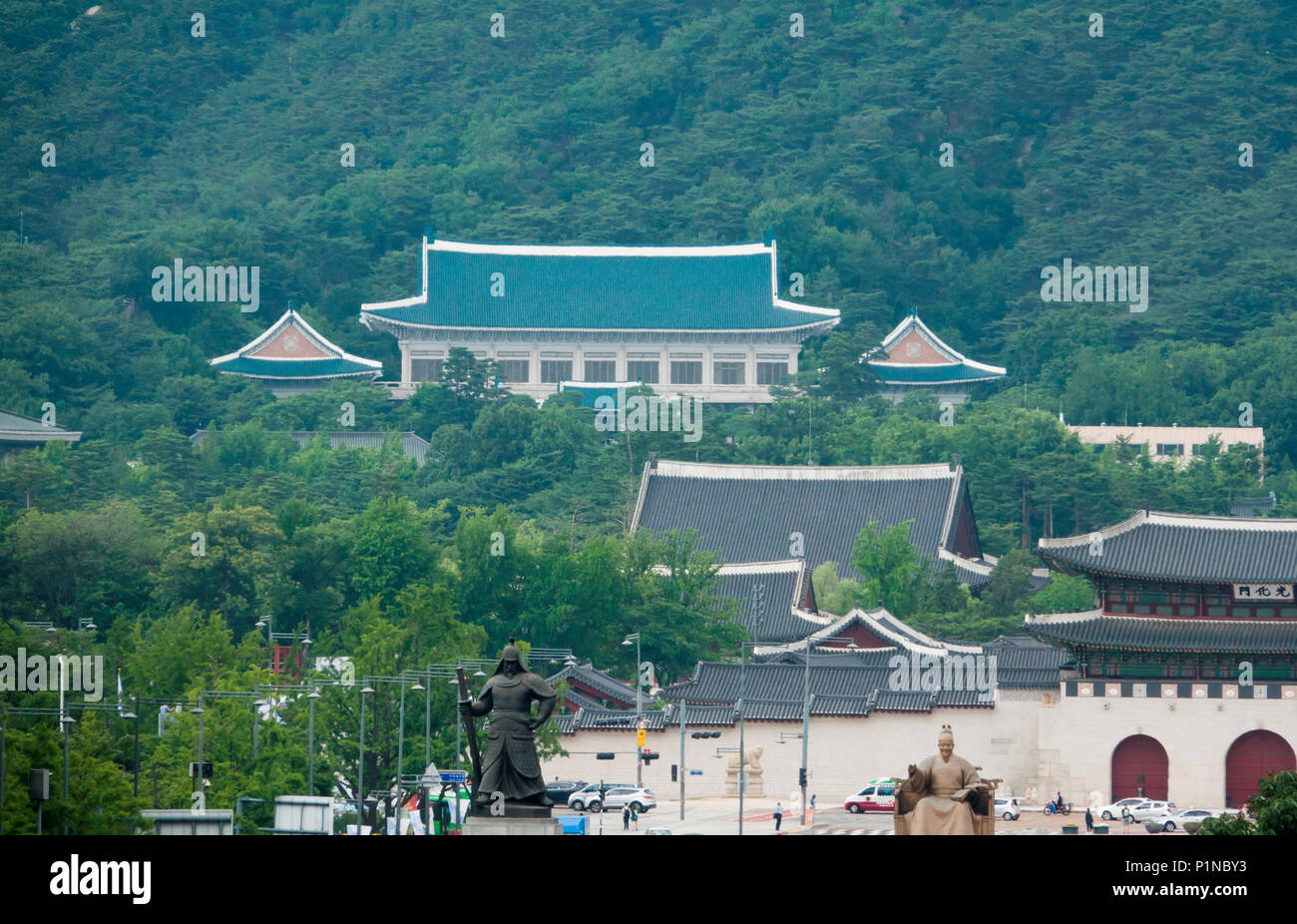 Blue House Seoul High Resolution Stock Photography And Images Alamy