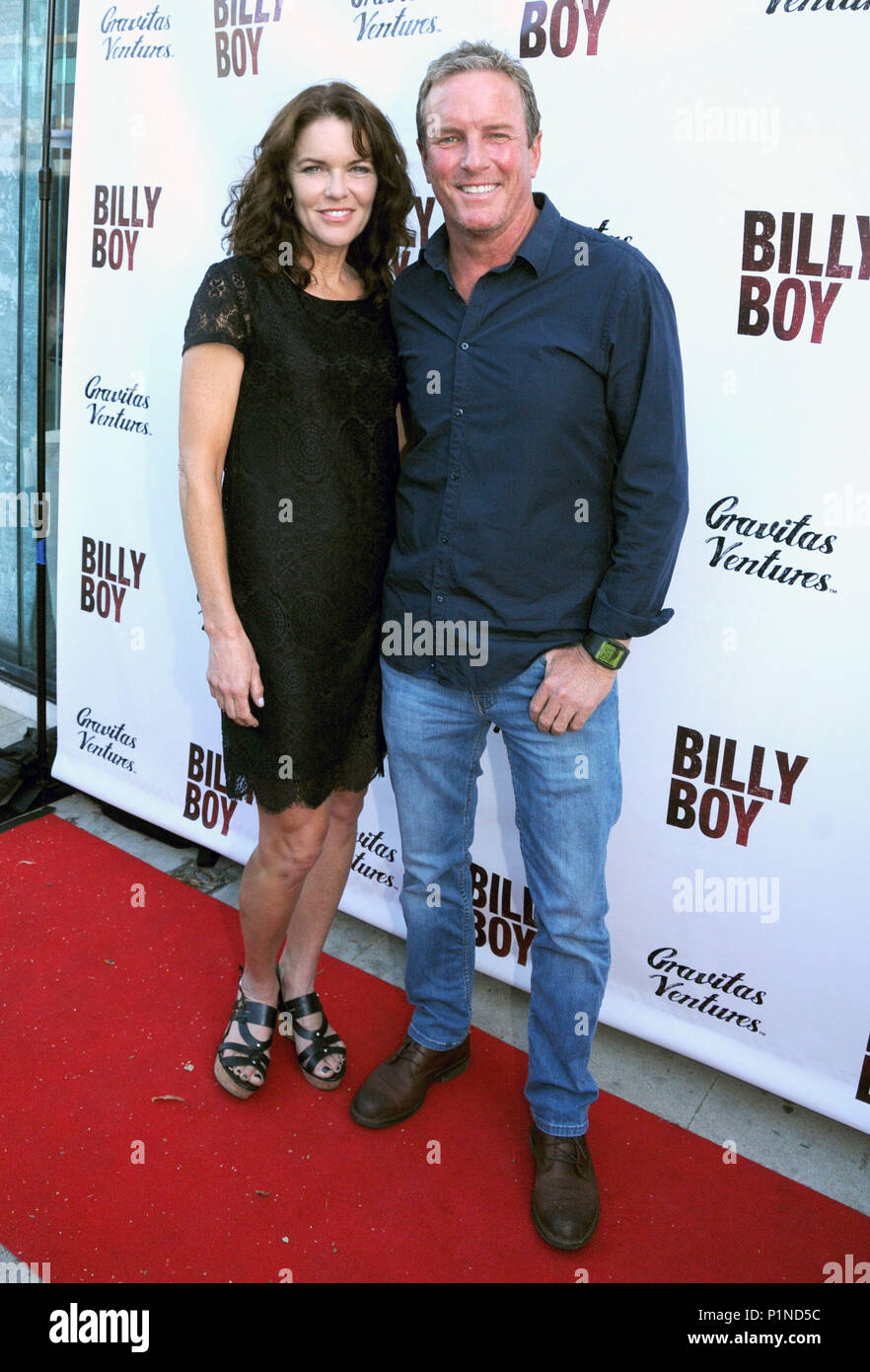 Beverly Hills, California, USA. 12th June, 2018. (L-R) Actress Susan Walters and husband actor Linden Ashby attend the Los Angeles Premiere of 'Billy Boy' on June 12, 2018 at Laemmle Music Hall in Beverly Hills, California. Photo by Barry King/Alamy Live News - Stock Image