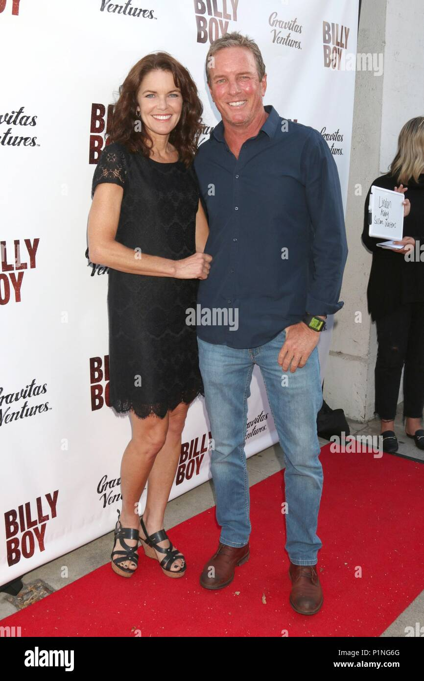 Los Angeles, CA, USA. 12th June, 2018. Susan Walters, Linden Ashby at arrivals for BILLY BOY Premiere, Laemmle Music Hall, Los Angeles, CA June 12, 2018. Credit: Priscilla Grant/Everett Collection/Alamy Live News - Stock Image