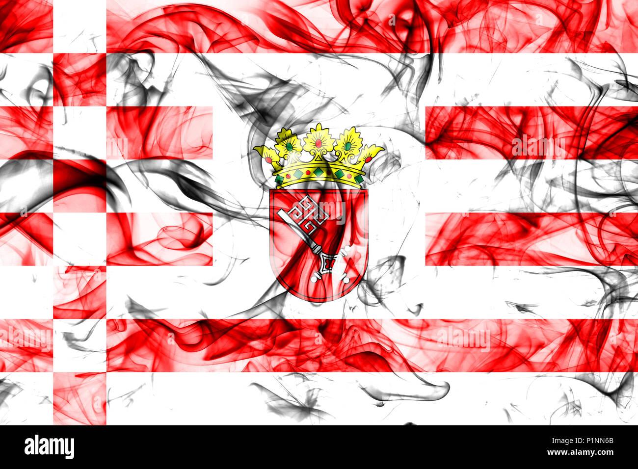 Bremen smoke flag, Northern Germany - Stock Image