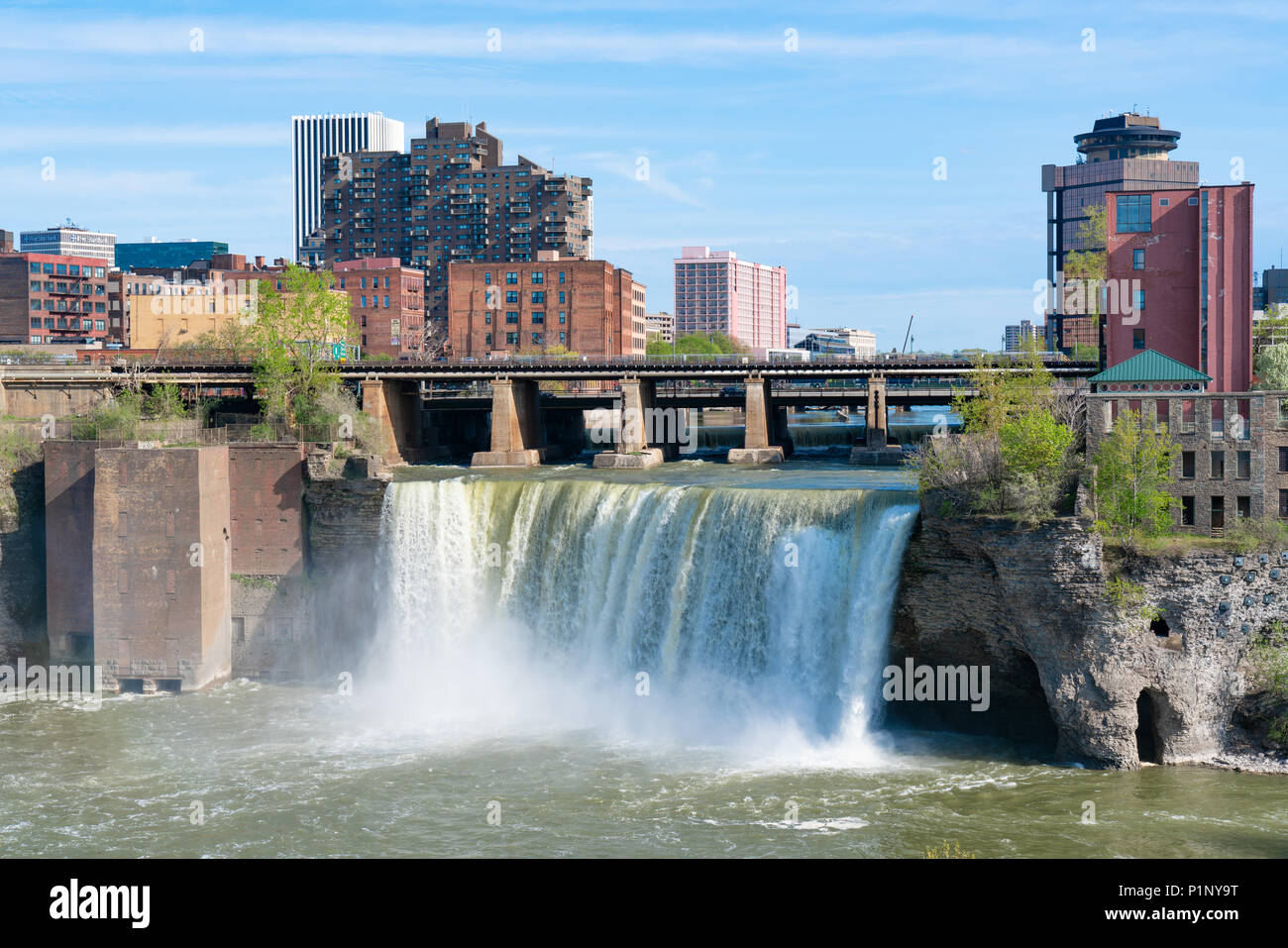 rochester ny may 14 2018 skyline of rochester new york at the