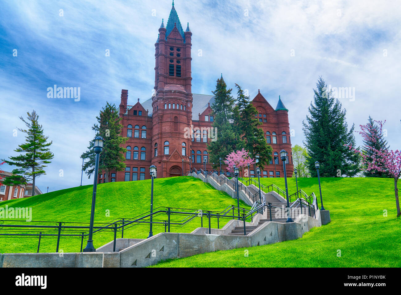 SYRACUSE, NY - MAY 14, 2018: Historic College of Visual and Performing  Arts Building at Syracuse University, New York - Stock Image