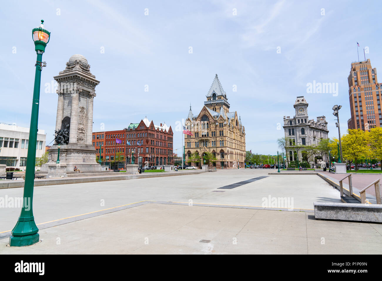 SYRACUSE, NY - MAY 14, 2018:  Clinton Square in downtown Syracuse, New York - Stock Image