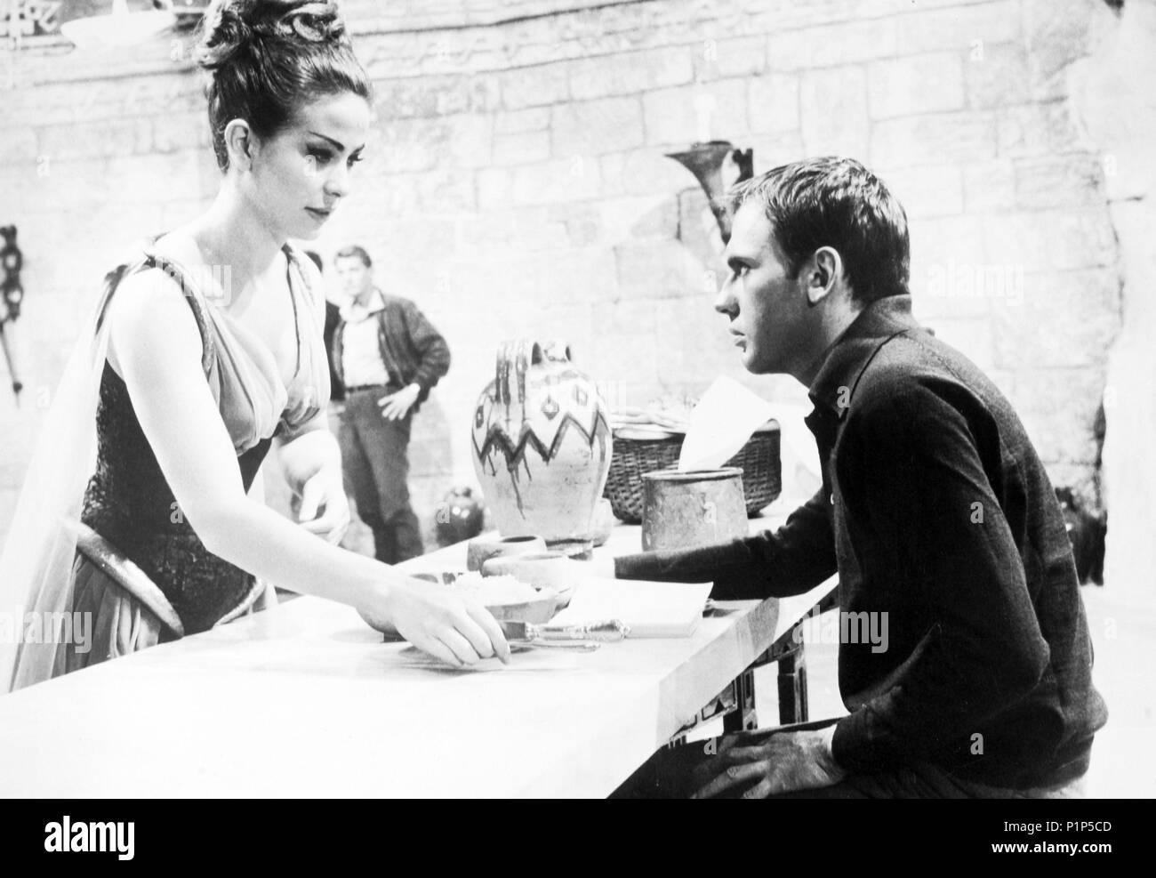 Original Film Title: L' ATLANTIDE.  English Title: ATLANTIS, CITY BENEATH THE DESERT.  Film Director: EDGAR ULMER.  Year: 1961.  Stars: JEAN-LOUIS TRINTIGNANT; HAYA HARAREET. Credit: TITANUS / Album - Stock Image