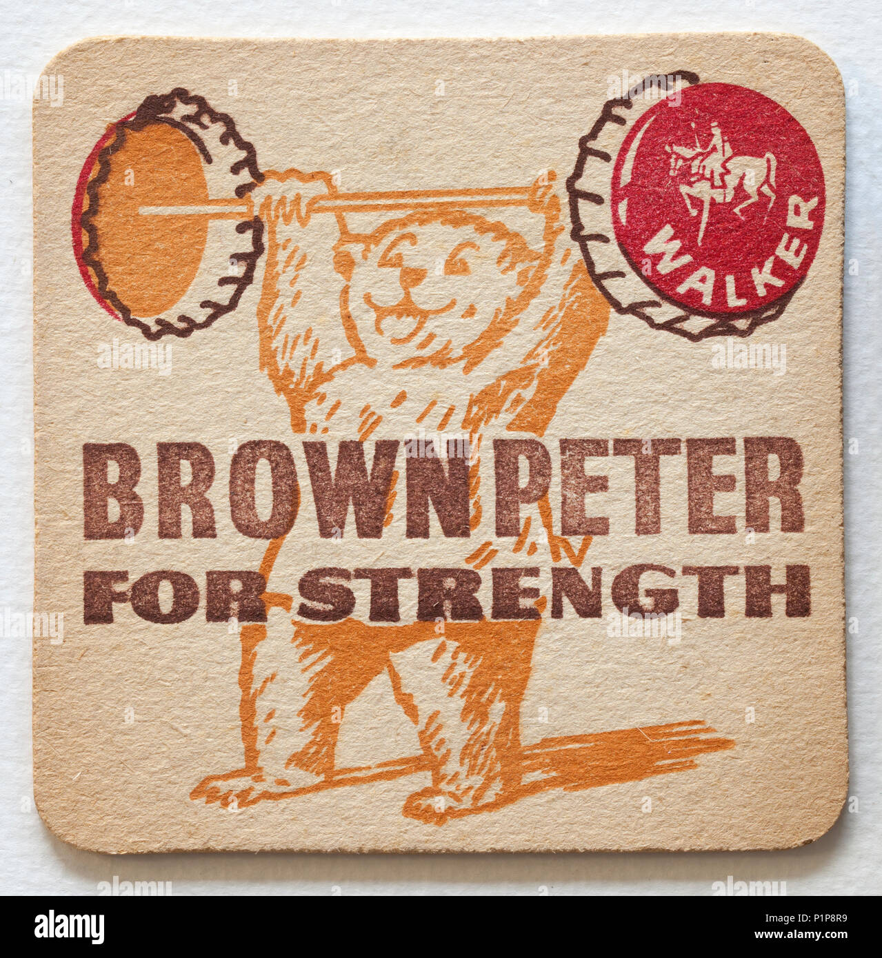Vintage British Beer Mat Advertising Stock Photo