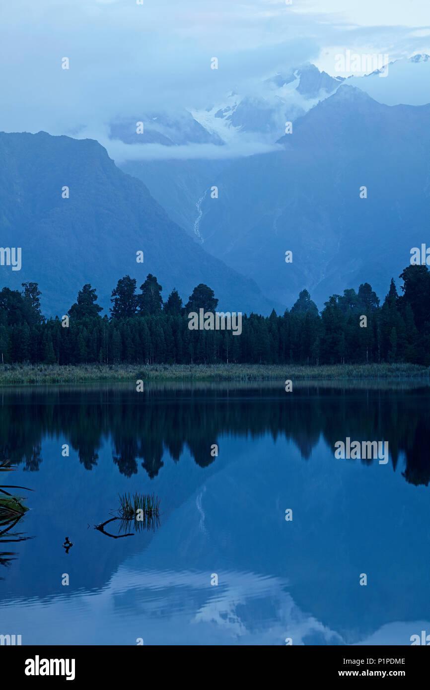 Lake Matheson, Westland National Park, West Coast, South Island, New Zealand - Stock Image