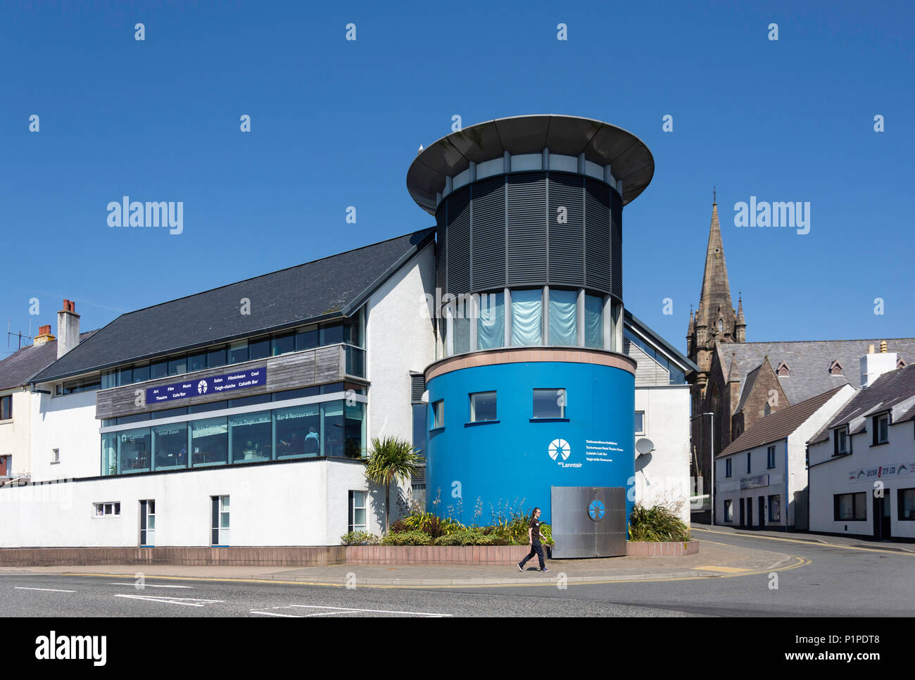 An Lanntair Theatre & event venue, South Beach, Stornoway, Isle of Lewis, Outer Hebrides, Scotland, United Kingdom - Stock Image