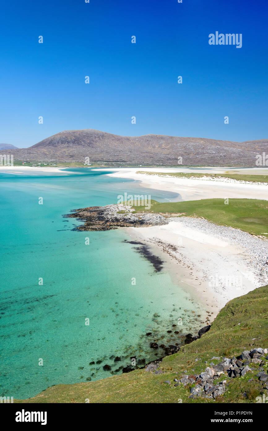 Traigh Seilebost Beach, Isle of Harris, Outer Hebrides, Na h-Eileanan Siar, Scotland, United Kingdom - Stock Image