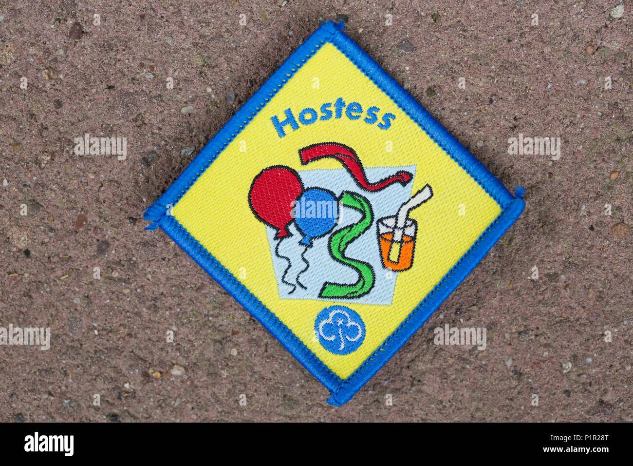 Hostess Girl Guide Brownies Badge Stock Photo 207645784 Alamy