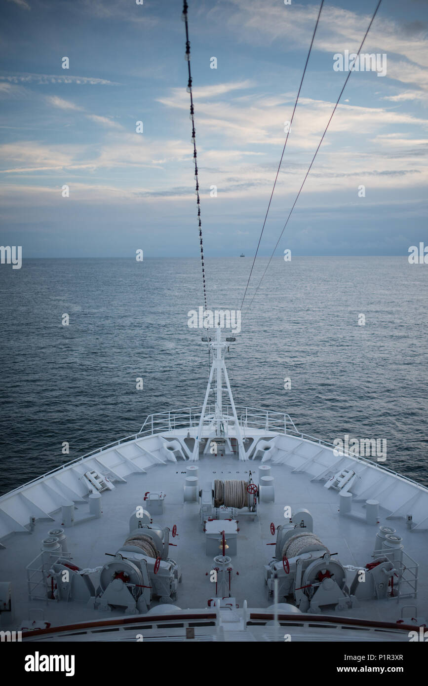 Germany, shipping on the North Sea - Stock Image
