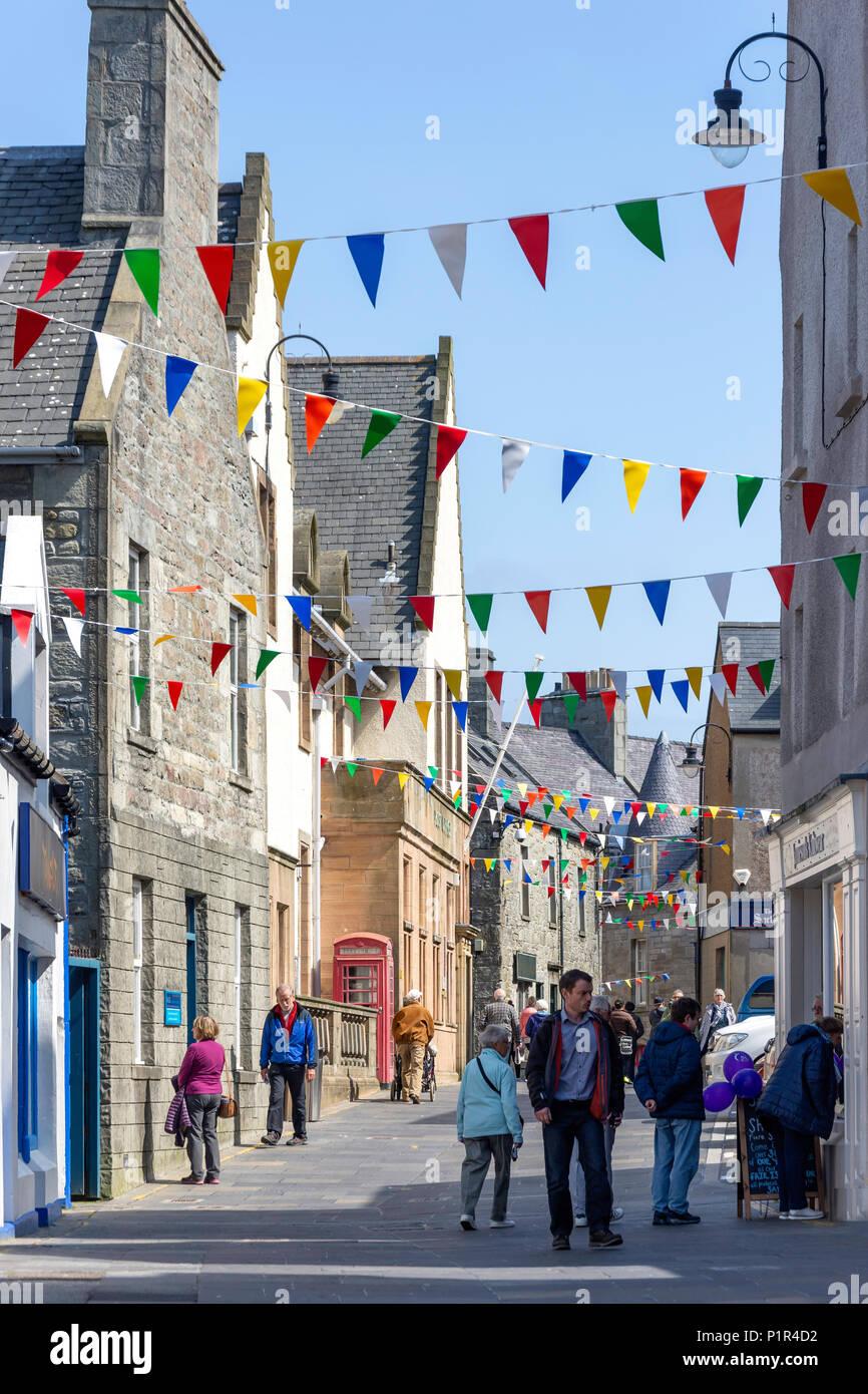 Commercial Street, Lerwick, Shetland, Northern Isles, Scotland, United Kingdom - Stock Image