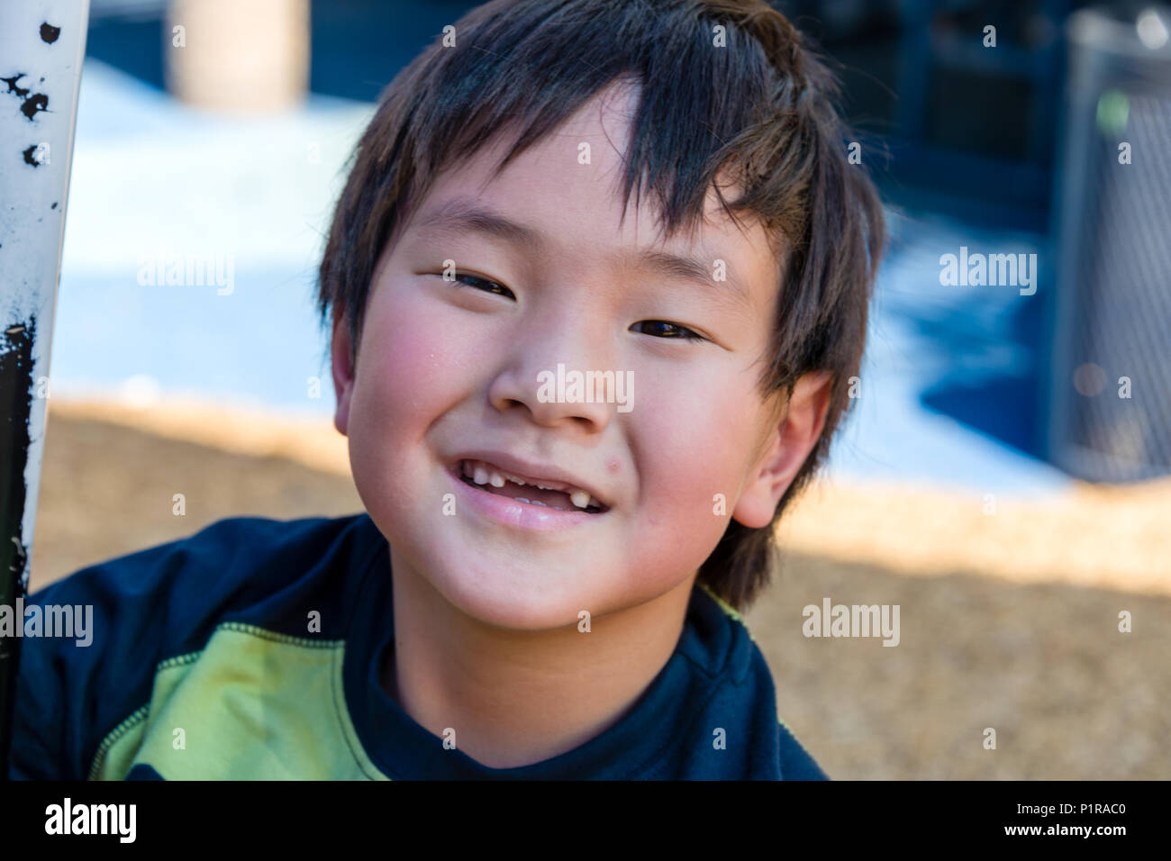 Johnny's Toothless Grin - Stock Image