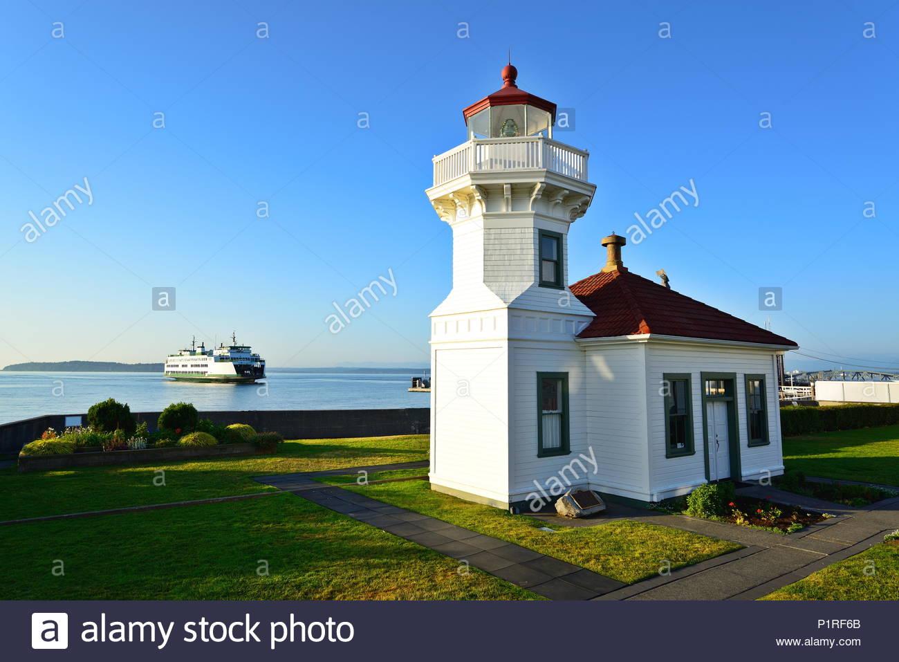 mukilteo lighthouse wa stock photo 207655907 alamy