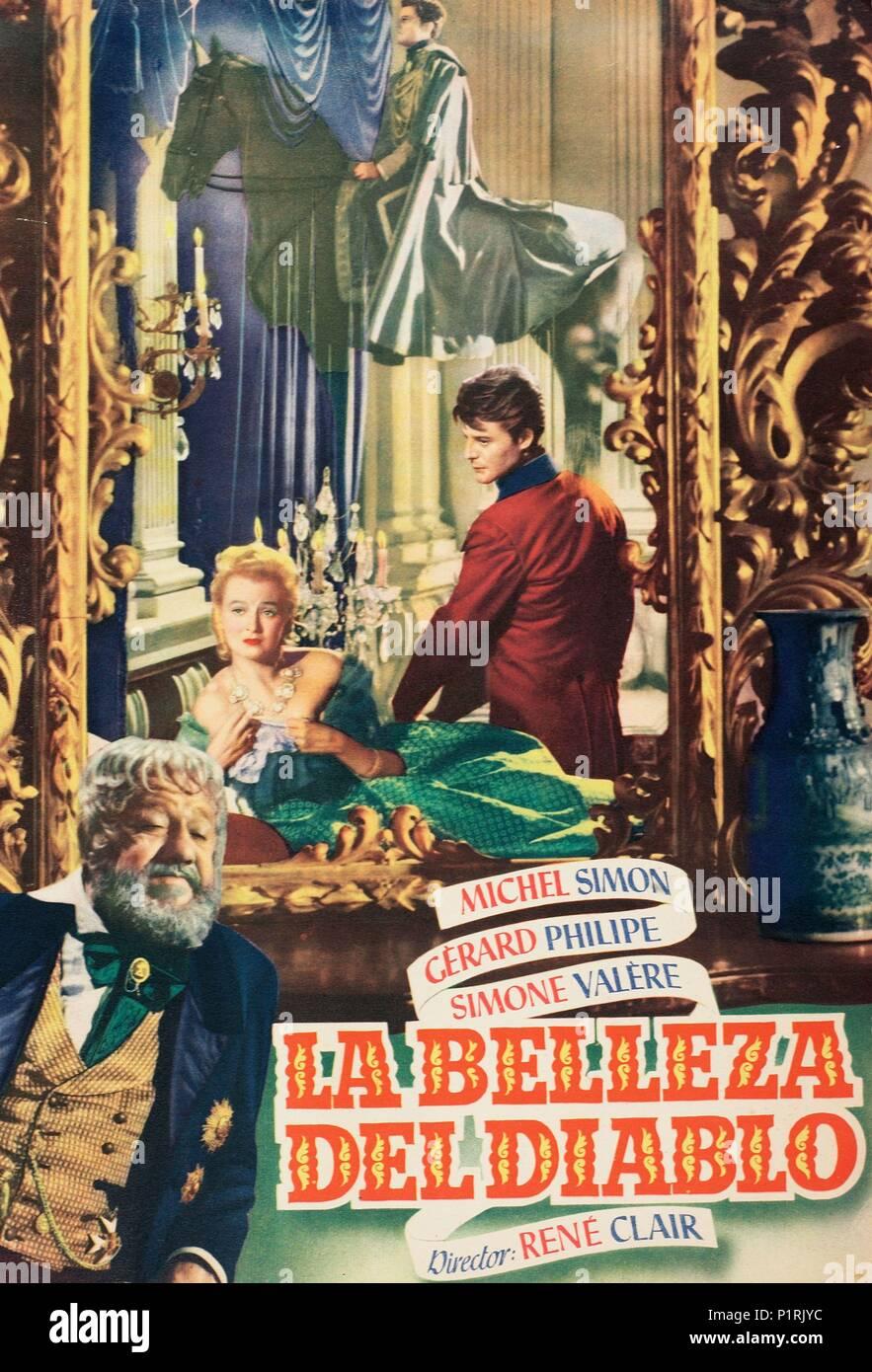 La beaute du diable Michel Simon Movie poster print