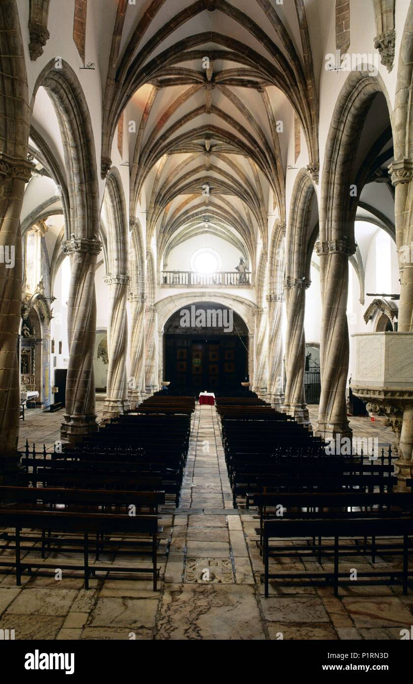 Olivenza Magdalena Church Central Nave Interior Manuelino Gothic Style Architecture