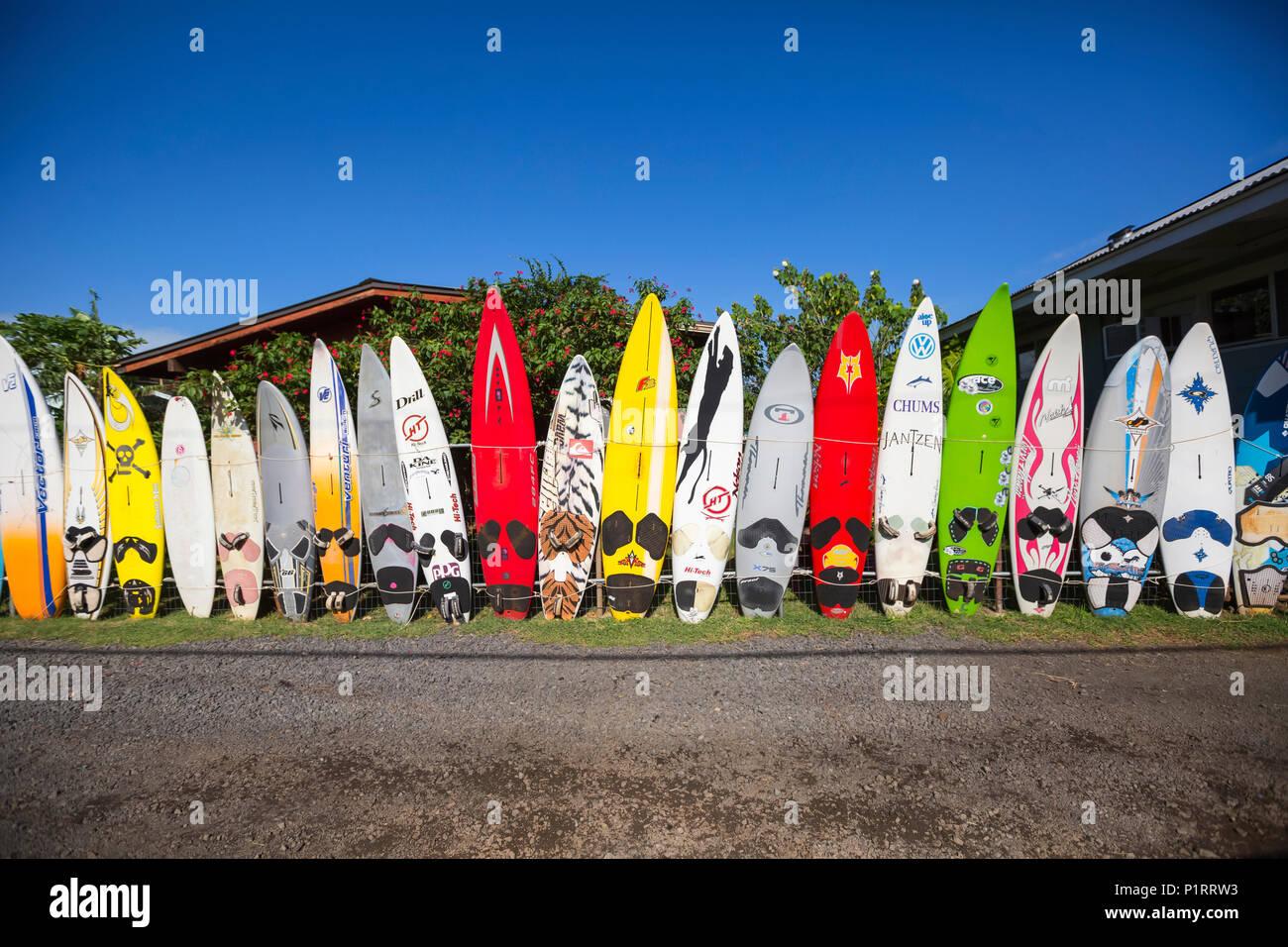 Old Surfboards Make For A Creative Fence Paia Maui Hawaii United