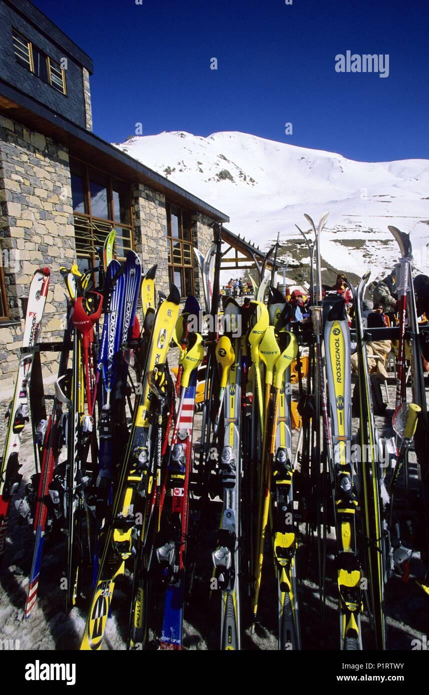 Alta Ribagorça: Vall de Boí, Boí - Taüll ski center (Alta Ribagorça region). - Stock Image