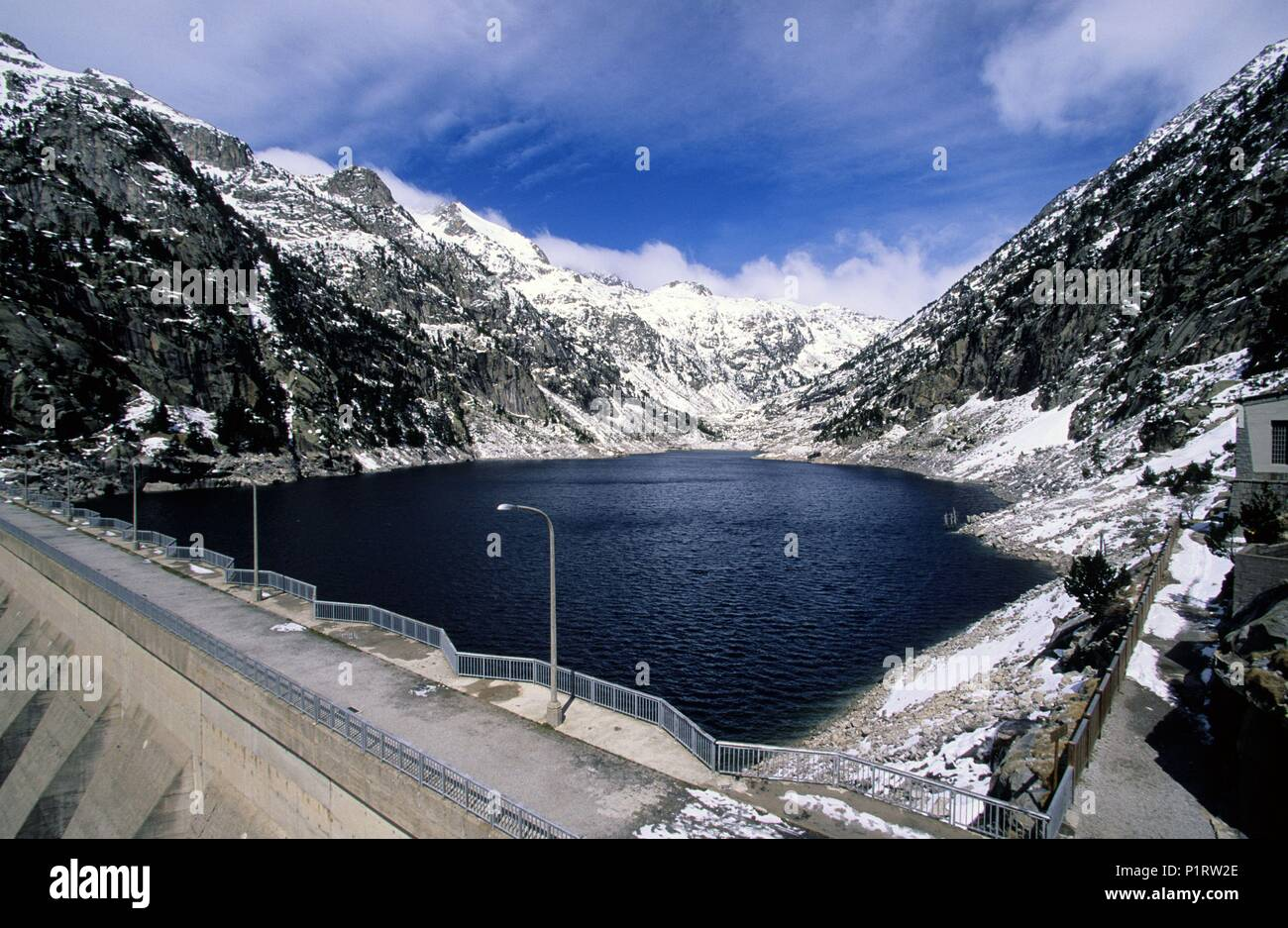 Alta Ribagorça: 'Cavallers' dam (Alta Ribagorça/ Ribagorza region). - Stock Image